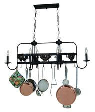 Lighted Pot Racks Ceiling Lighting