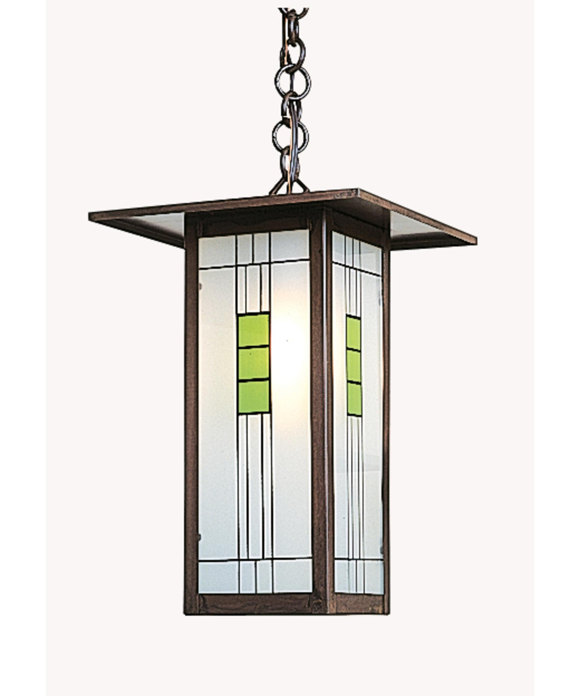 Shown In Bronze Finish And Green Black Combination Glass