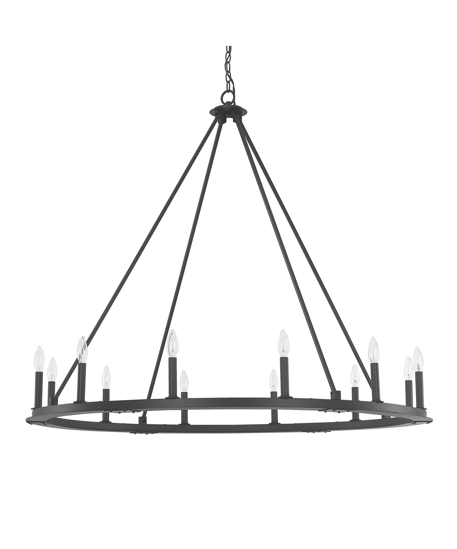 shown in black iron finish and no shade shade - Capital Lighting