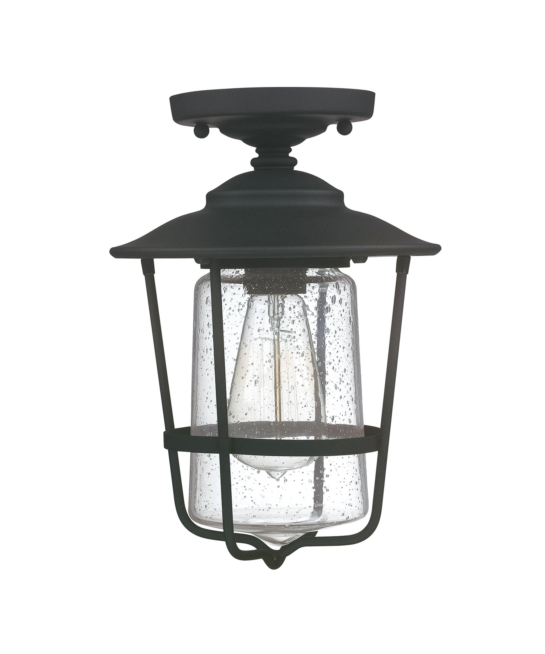 Good Ceiling Mount Outdoor Light Part - 4: Shown In Black Finish And Clear Glass