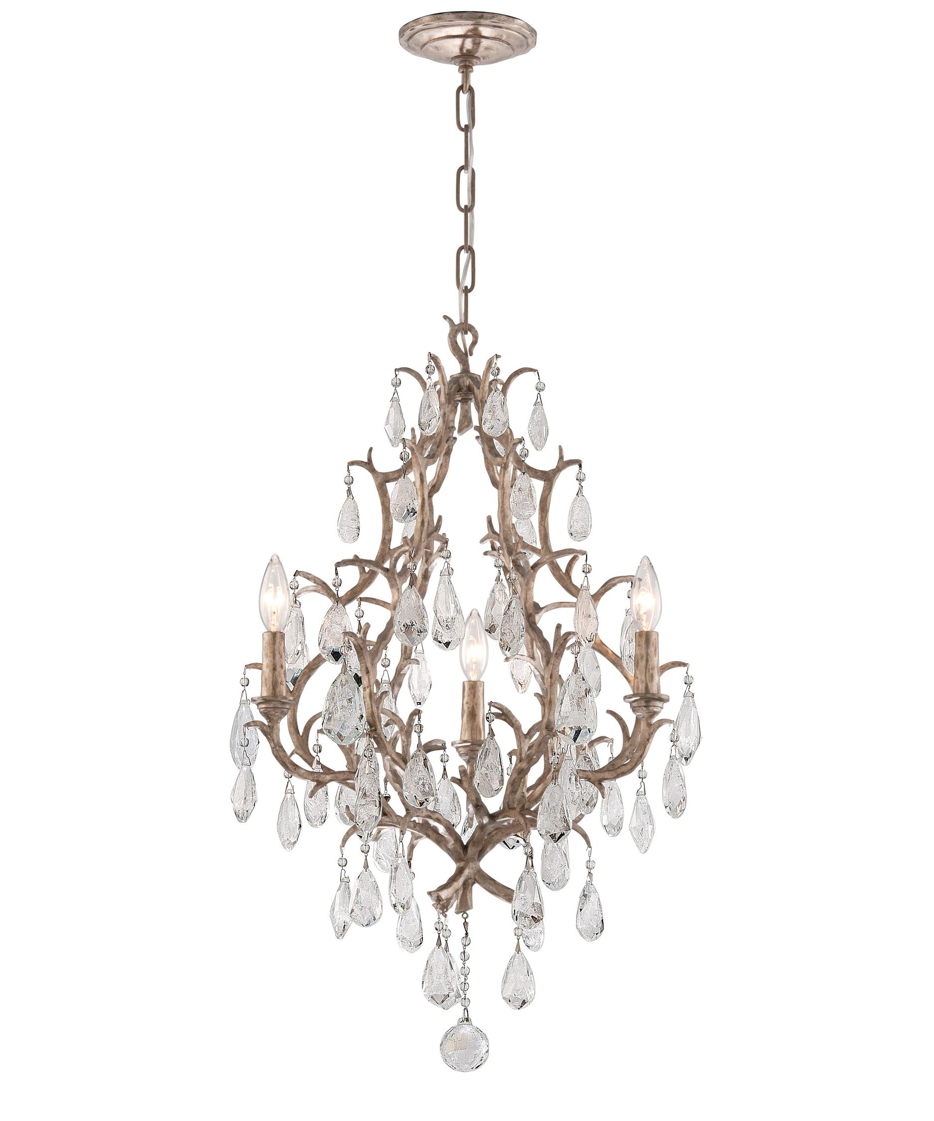 shown in vienna bronze finish and italian drops crystal