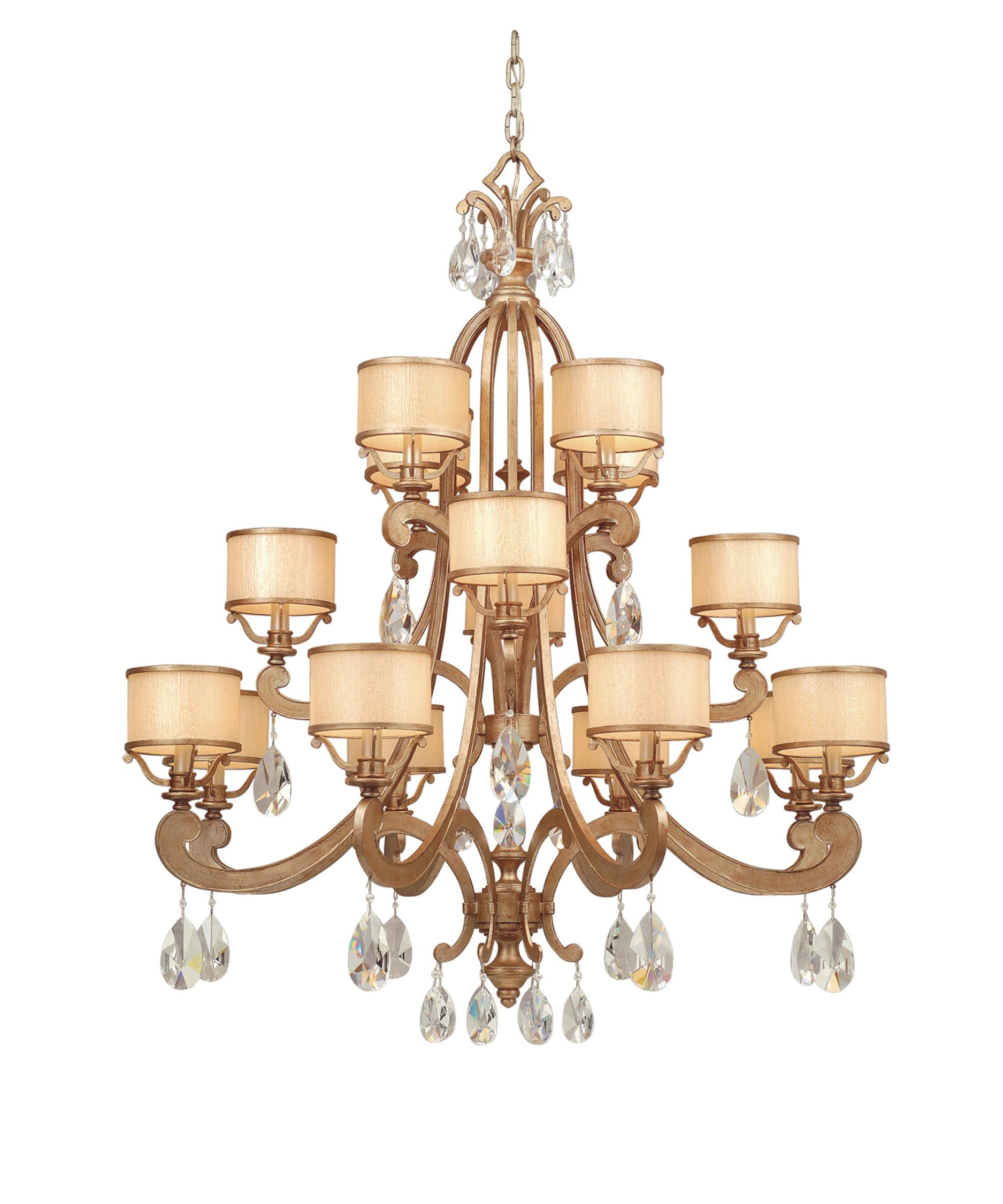 shown in antique roman silver finish clear crystals crystal cream ice glass and crystal - Corbett Lighting