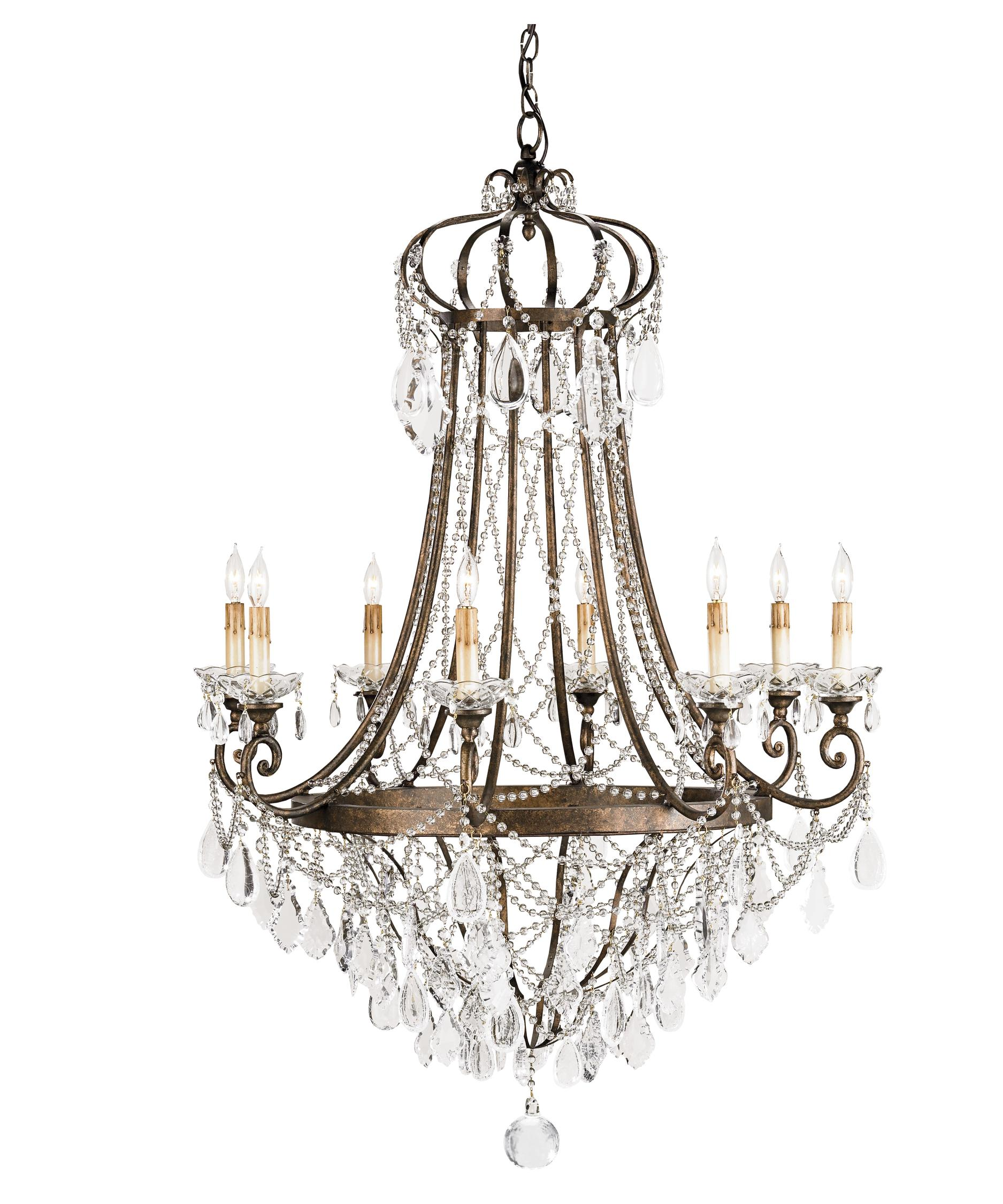 Currey and Company Scarlet 33 Inch Wide 8 Light Chandelier – Currey and Company Lighting Chandeliers