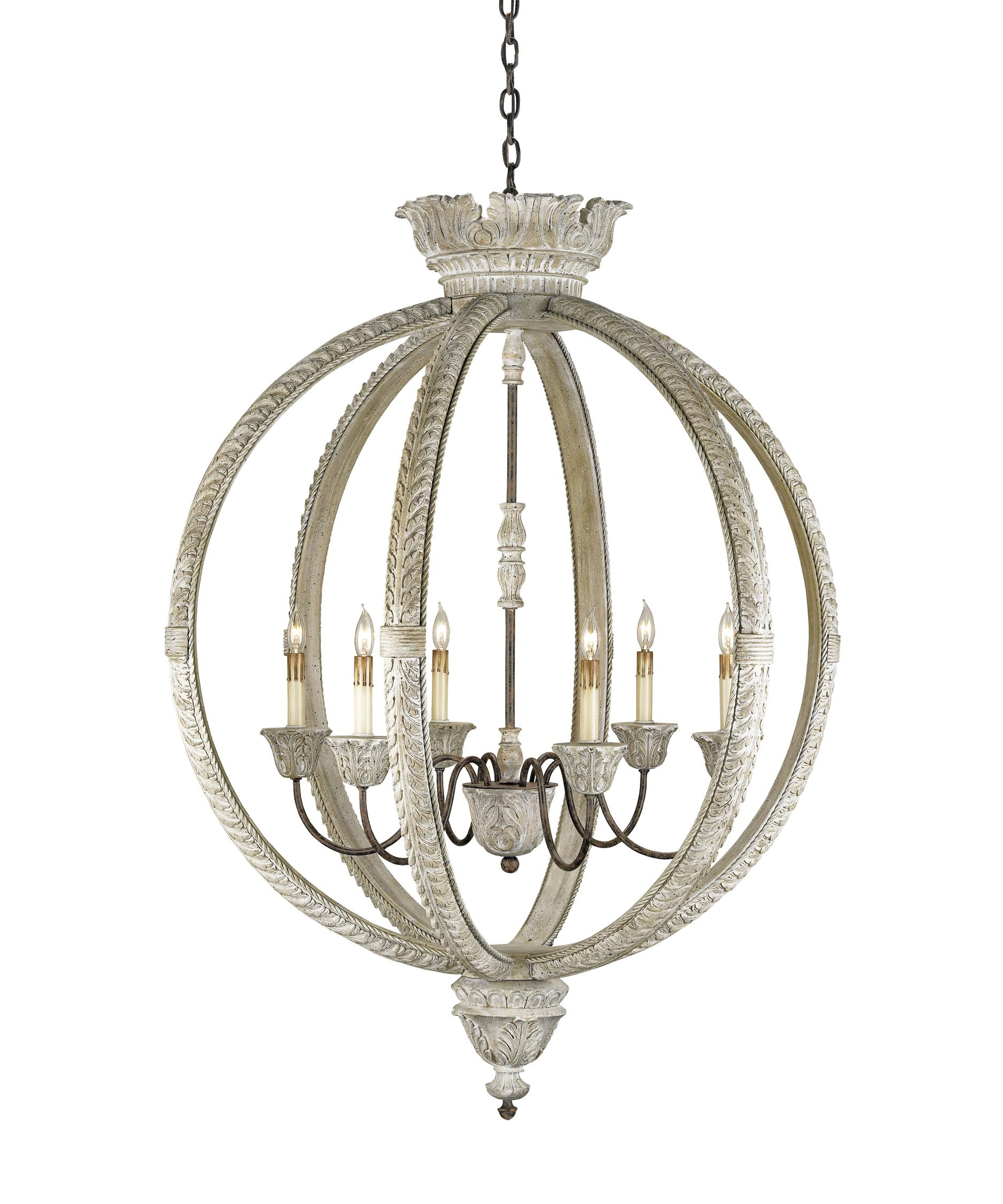 Currey and Company Dauphin 37 Inch Wide 6 Light Chandelier – Currey and Company Lighting Chandeliers