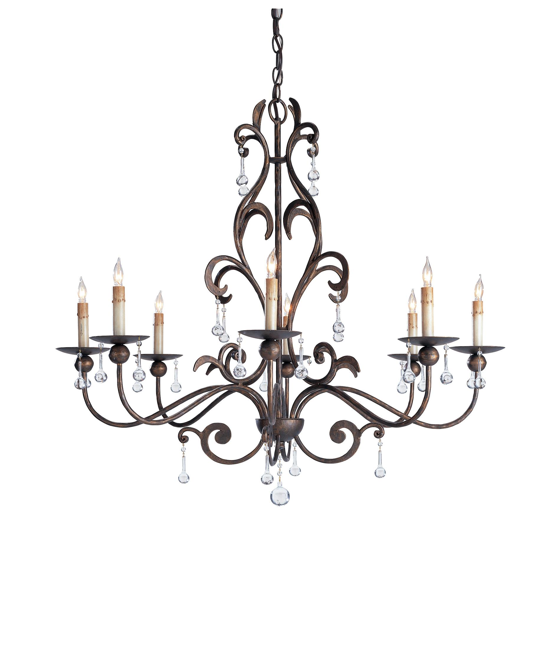 Currey and Company Pompeii 35 Inch Wide 8 Light Chandelier – Currey and Company Lighting Chandeliers