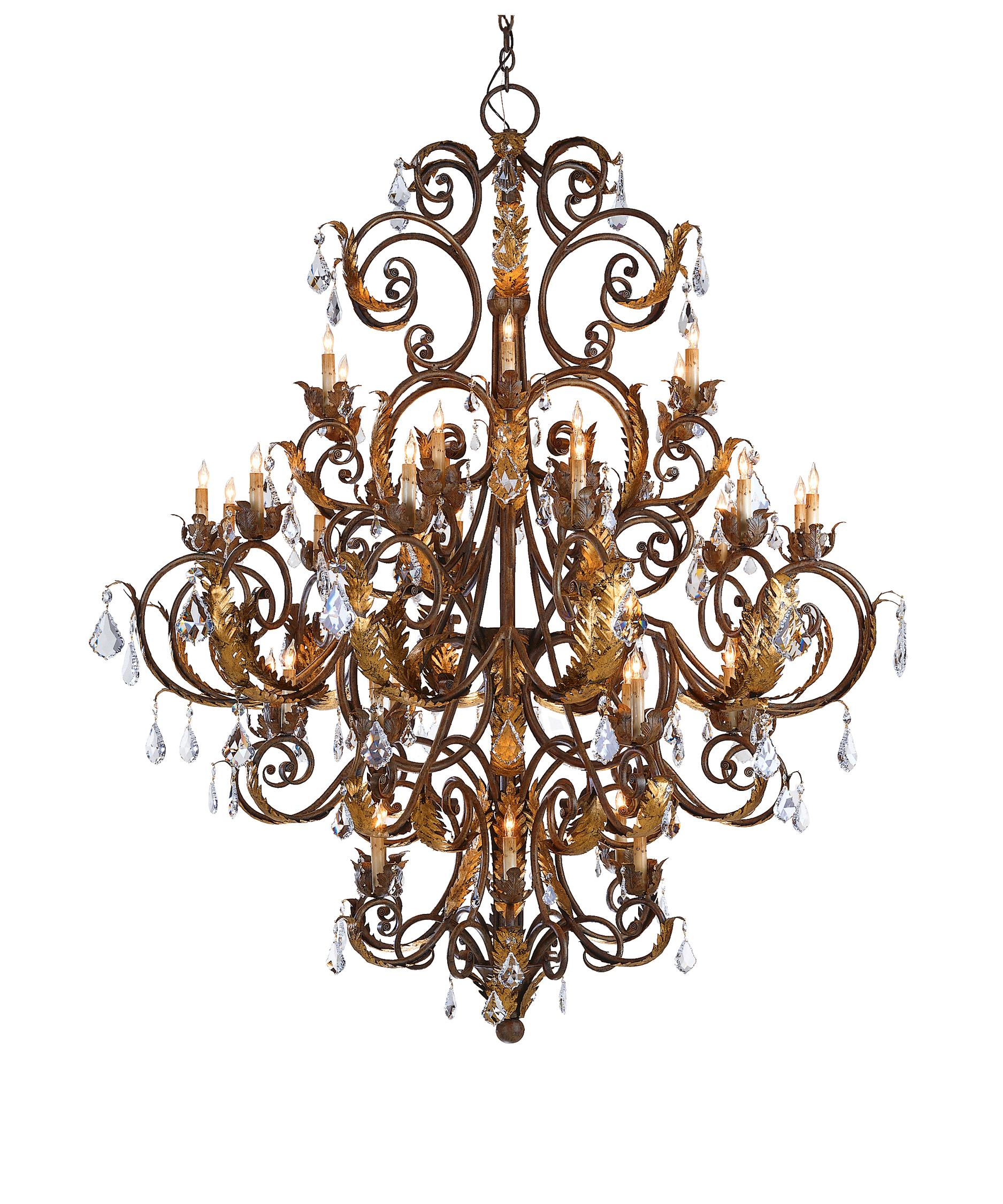 Currey and Company Innsbruck 55 Inch Wide 39 Light Chandelier – Currey and Company Lighting Chandeliers