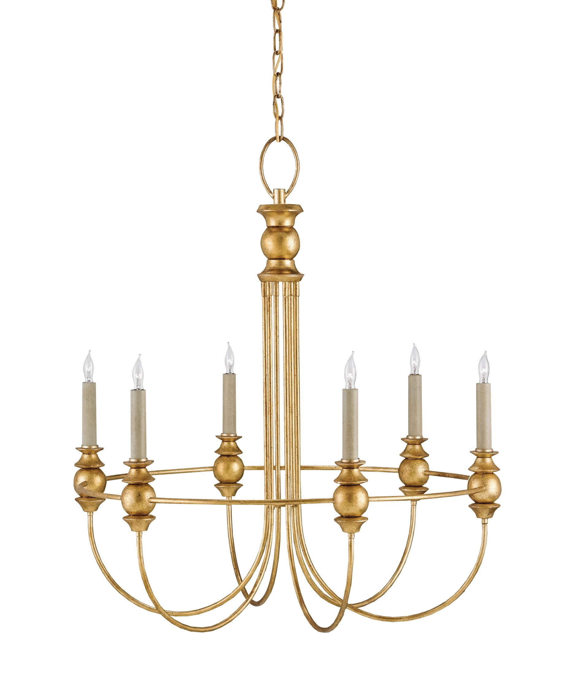 Currey and Company Fairlight 27 Inch Wide 6 Light Chandelier – Currey and Company Lighting Chandeliers