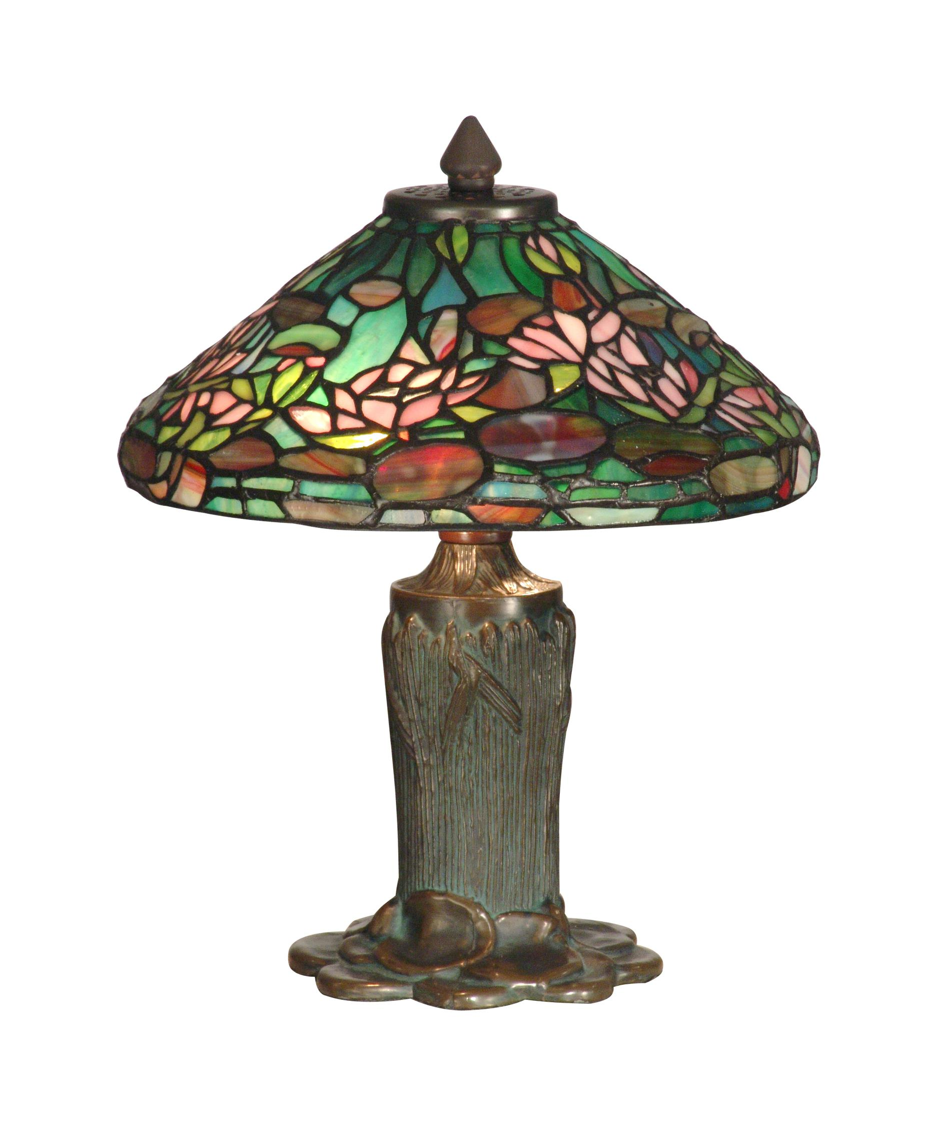 Dale tiffany tt10334 floral leaf 12 inch table lamp for 12 inch table lamp