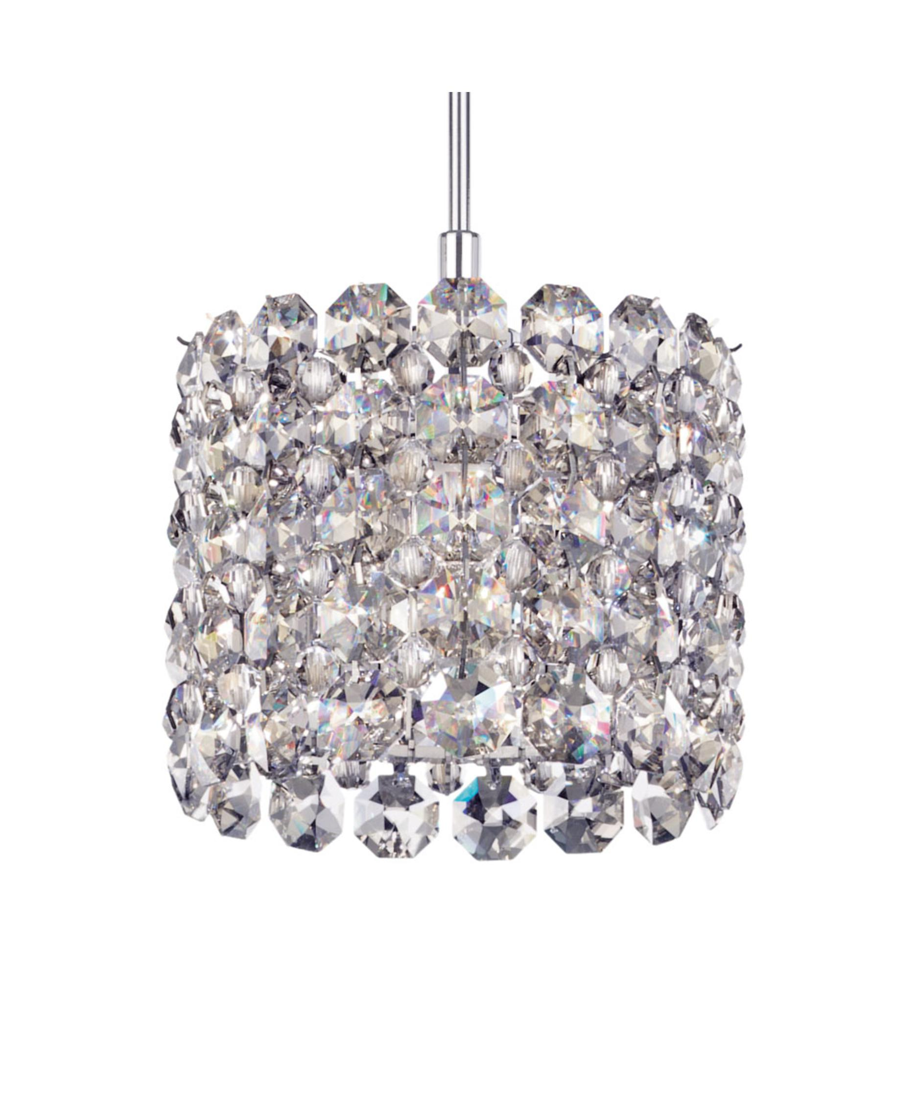 shown with and silver shade swarovski elements geometrix crystal - Schonbek Lighting