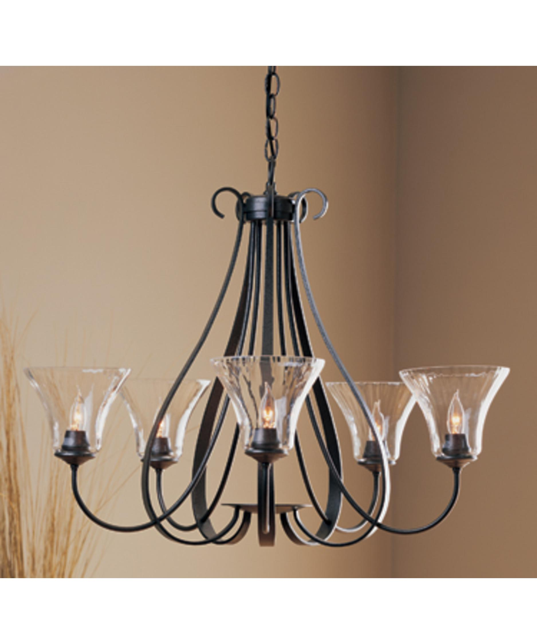 Hubbardton Forge Sweeping Taper: Hubbardton Forge 10-1454 Sweeping Taper 30 Inch Chandelier