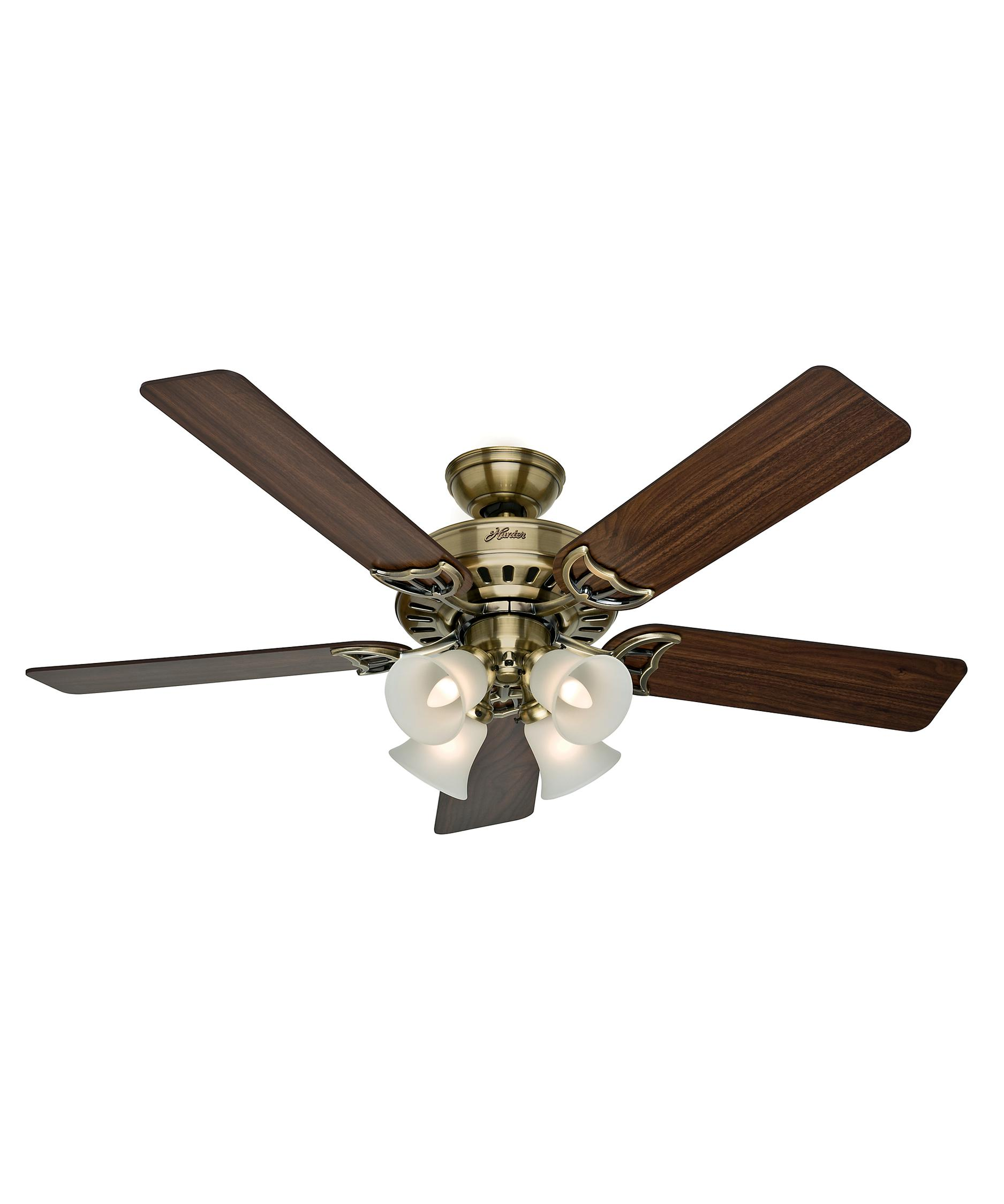 hunter fan 53063 studio series 52 inch ceiling fan with light kit. Black Bedroom Furniture Sets. Home Design Ideas