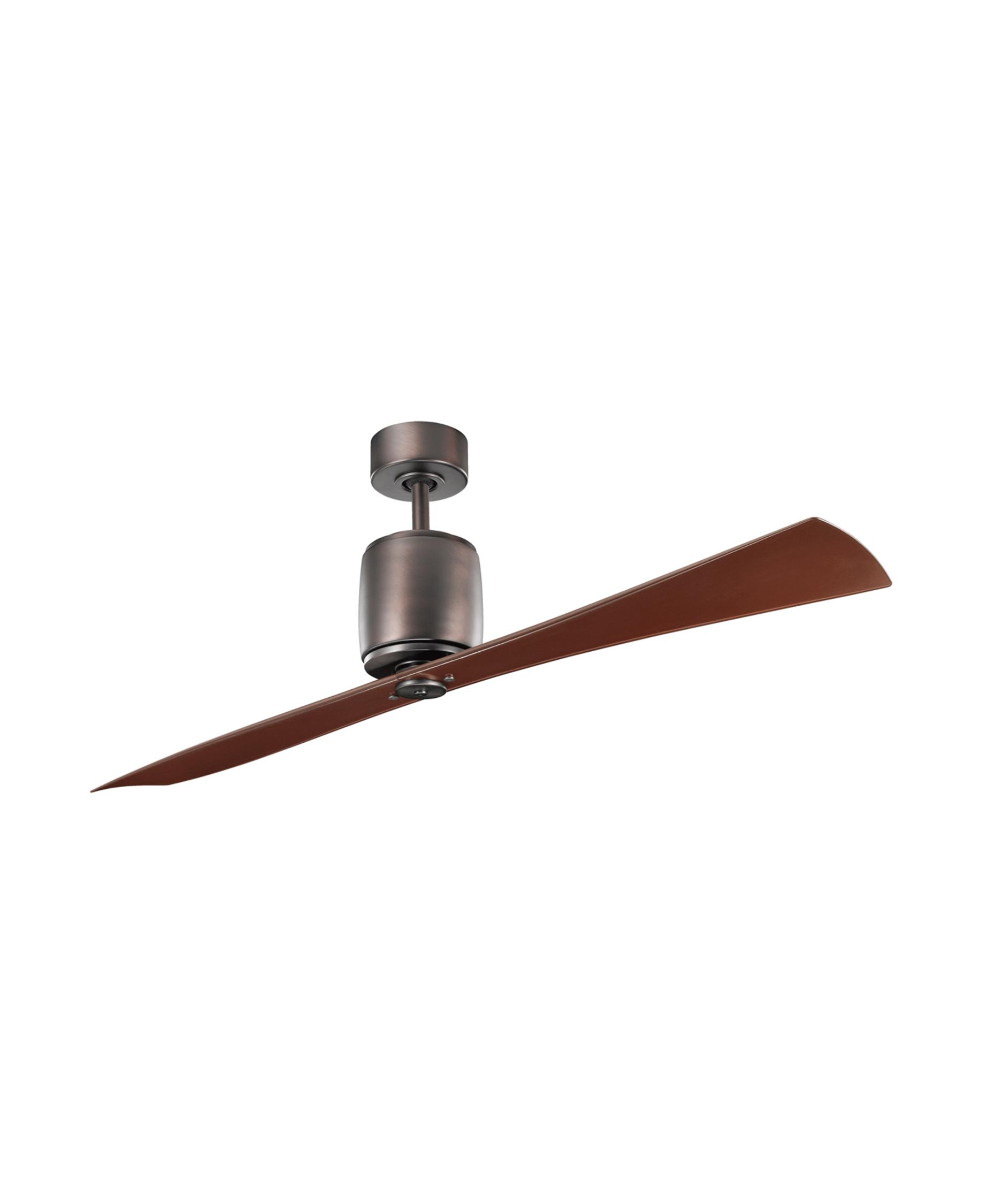 kichler  ferron  inch  blade ceiling fan  capitol  - shown in oil brushed bronze finish