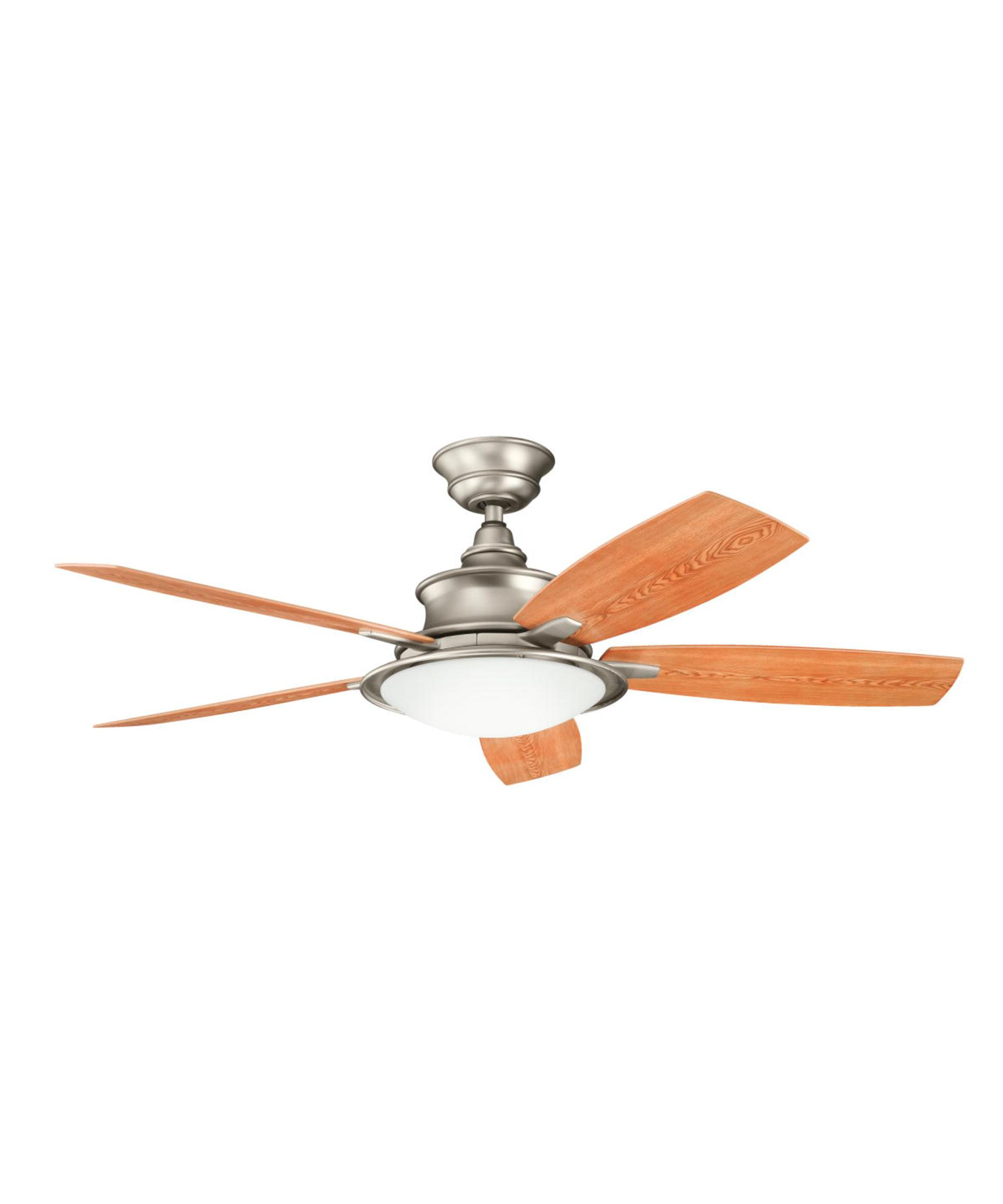 52 Inch Fan Part - 45: Shown In Brushed Nickel Finish And Etched Cased Opal Glass