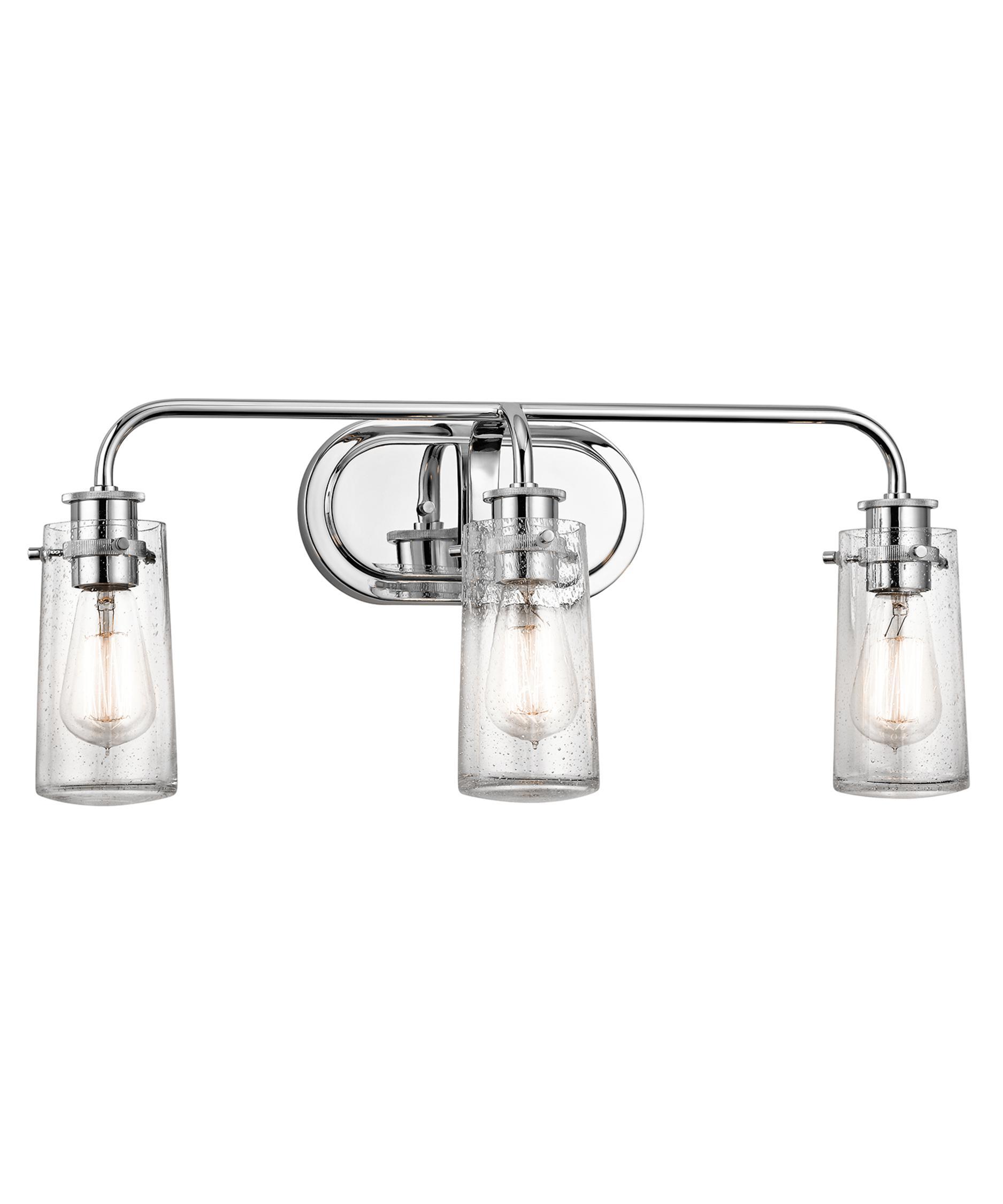 Bathroom Vanity Lights Clear Glass kichler 45459 braelyn 24 inch wide bath vanity light | capitol