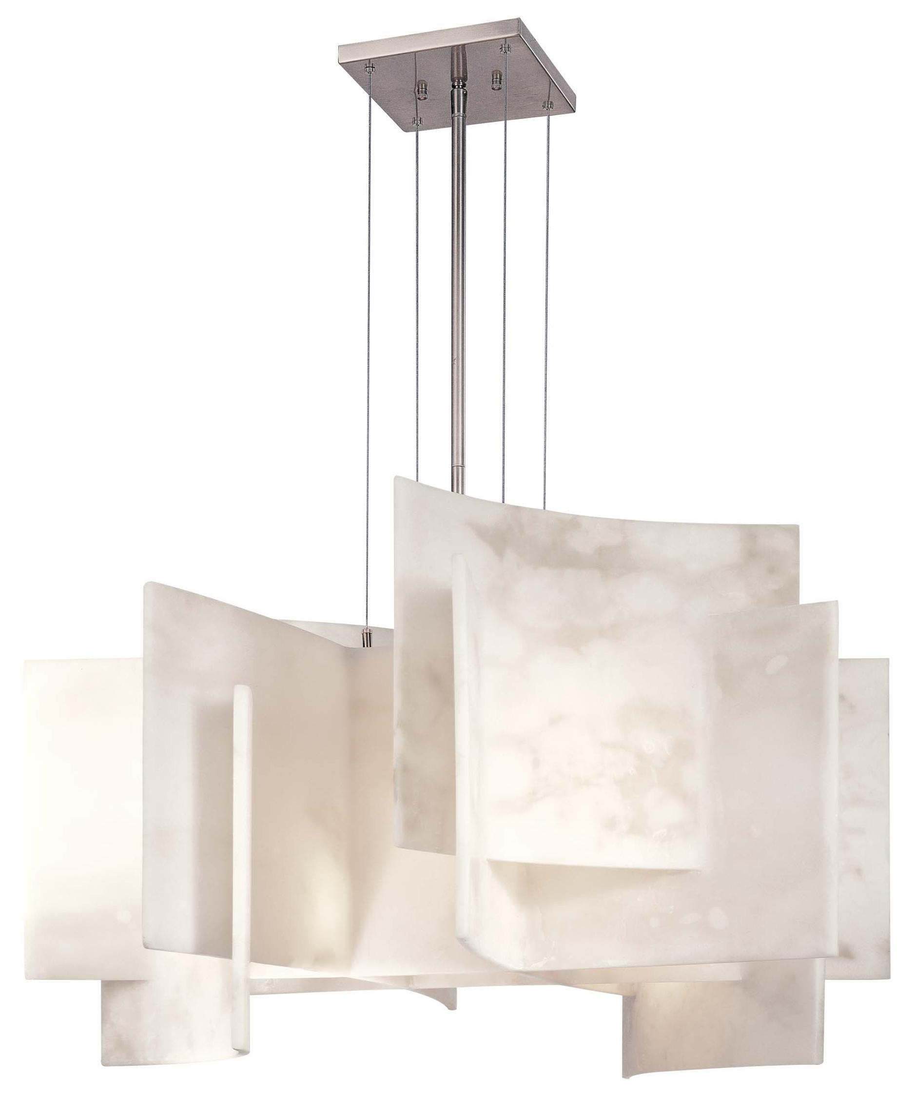 Kovacs Alabaster 30 Inch Wide 5 Light Large Pendant – Alabaster Lighting Chandeliers