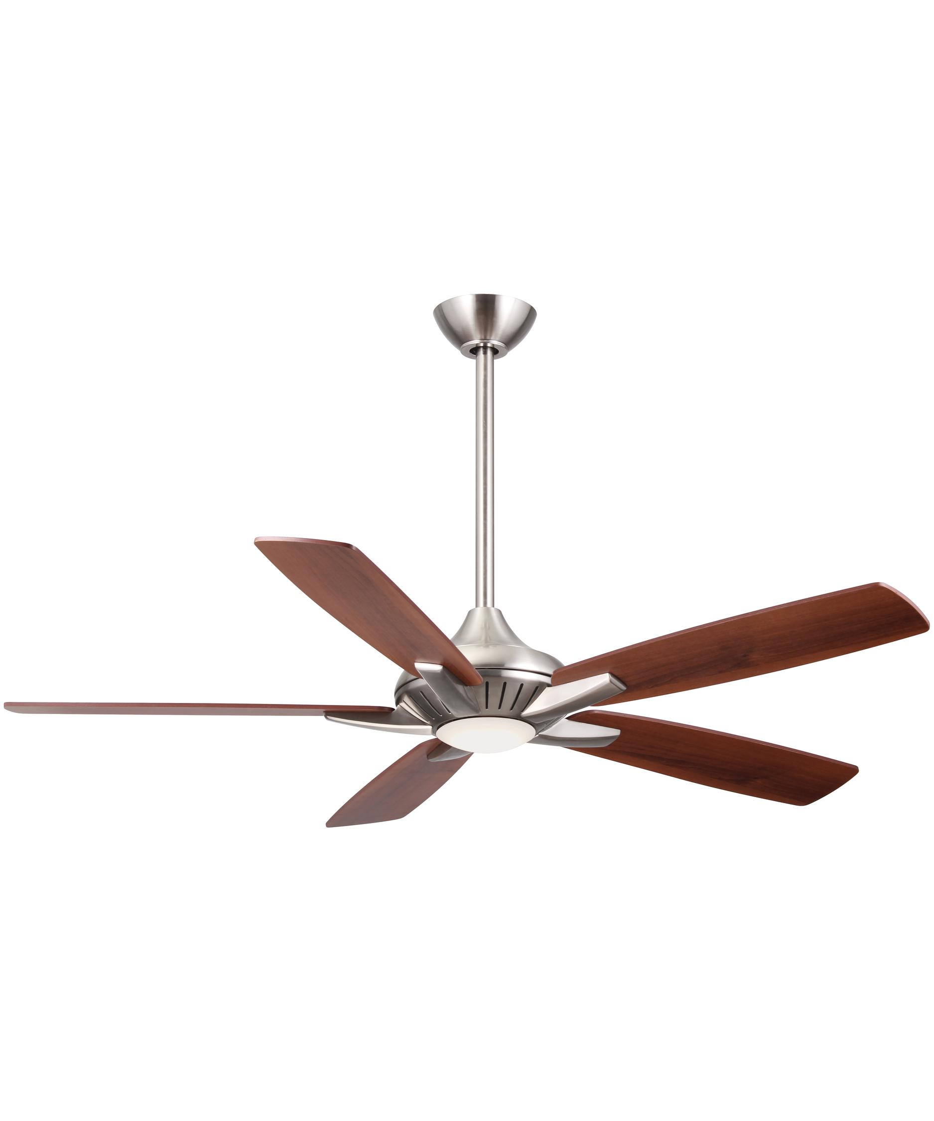 52 Inch Fan Part - 17: Shown In Brushed Nickel Finish And Etched Lens Glass