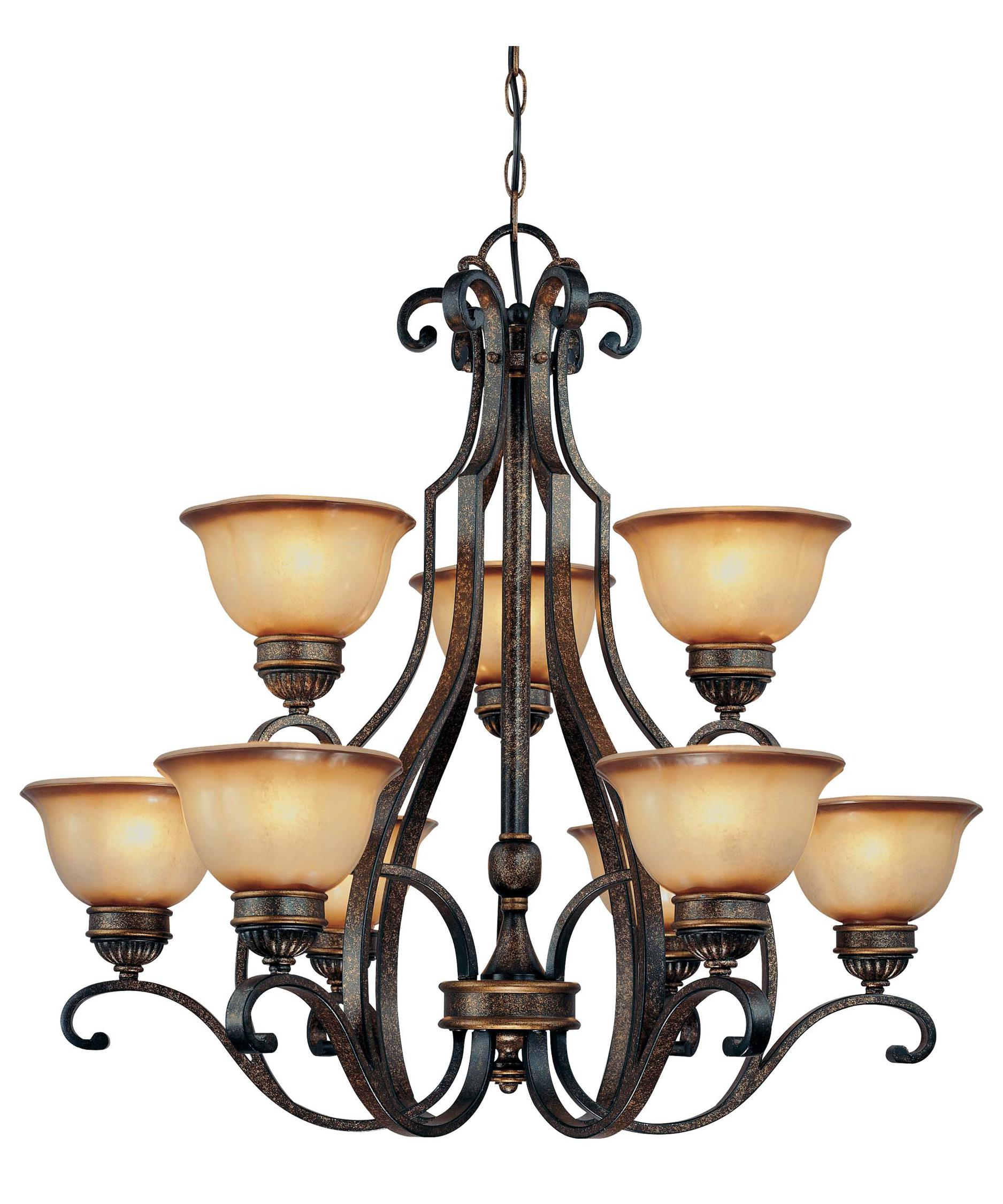 minka lavery brompton 38 inch wide 9 light chandelier capitol lighting - Minka Lighting