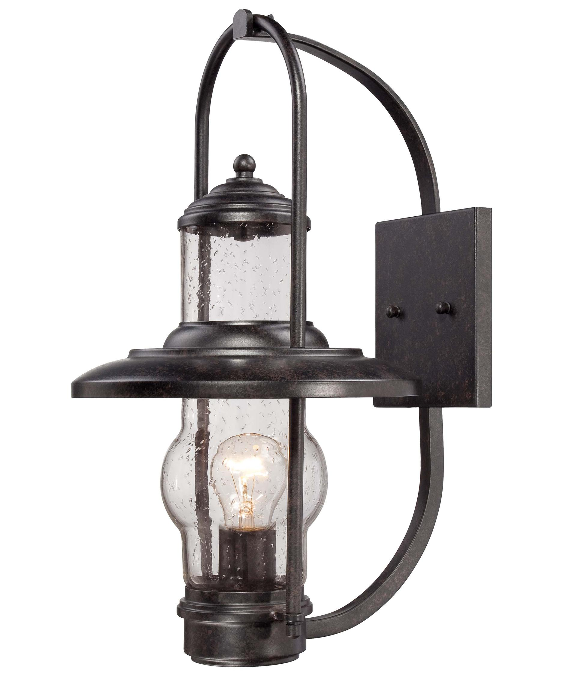 shown in textured french bronze finish and clear seeded glass - Minka Lighting
