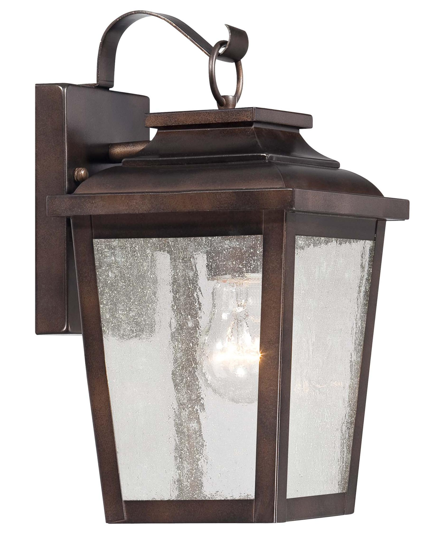 shown in chelesa bronze finish and clear seeded glass - Minka Lighting