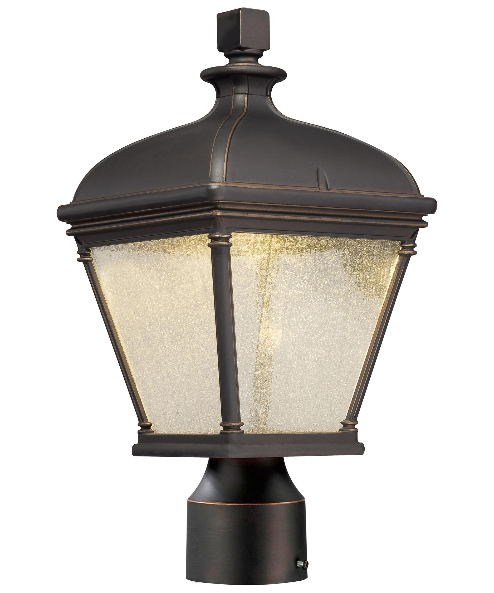 Shown in Ol Rubbed Bronze finish and Clear Seeded glassMinka Lavery 72396 Lauriston Manor 9 Inch Wide 1 Light Outdoor  . Outdoor Post Mount Lighting Fixtures. Home Design Ideas