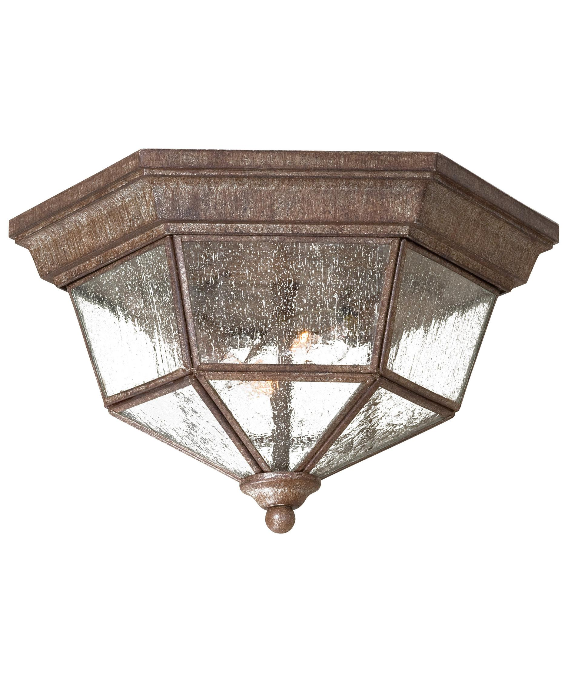 shown in vintage rust finish and clear seeded glass - Minka Lighting
