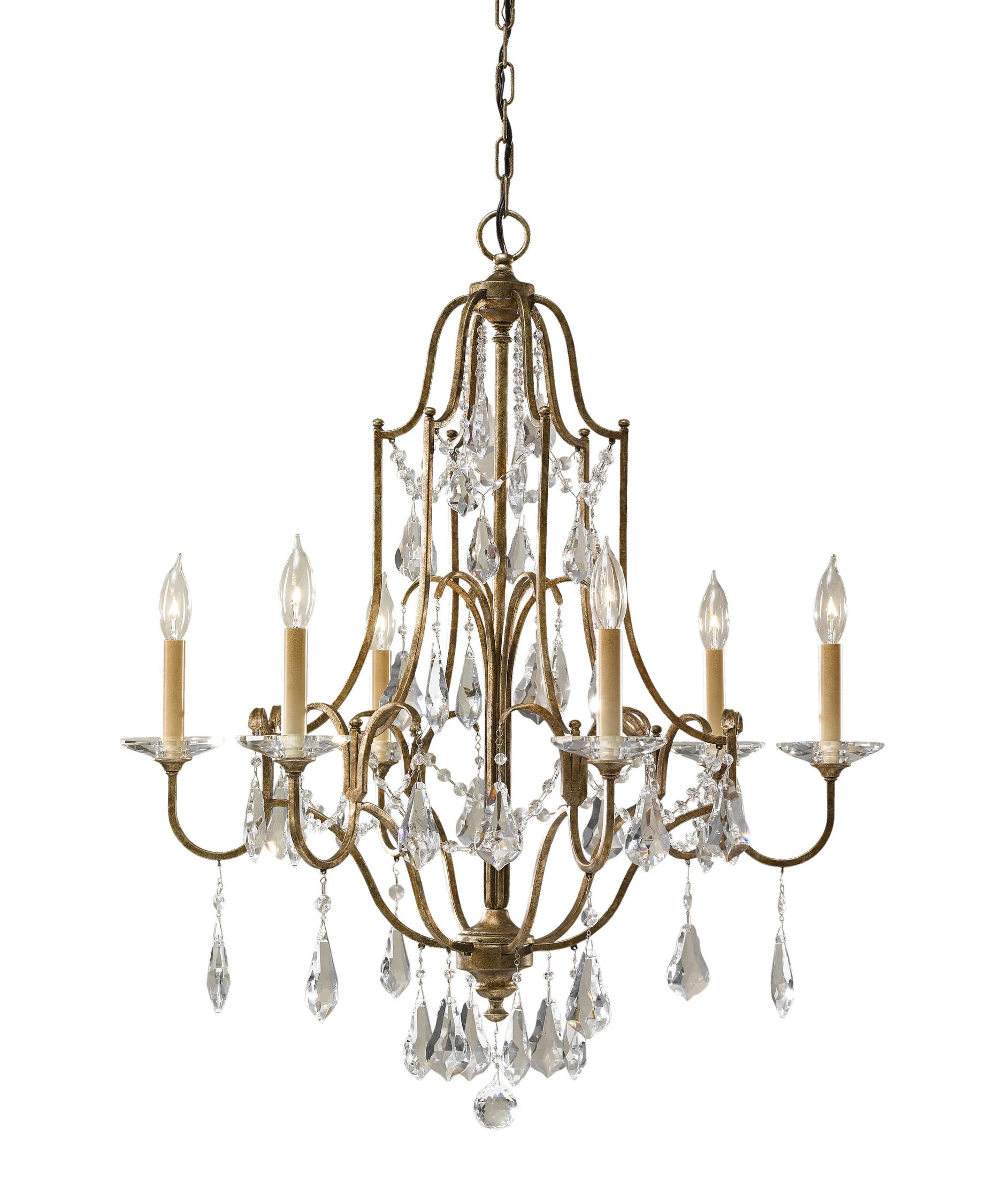 Murray Feiss Valentina 29 Inch Wide 6 Light Chandelier – Murray Feiss Chandeliers
