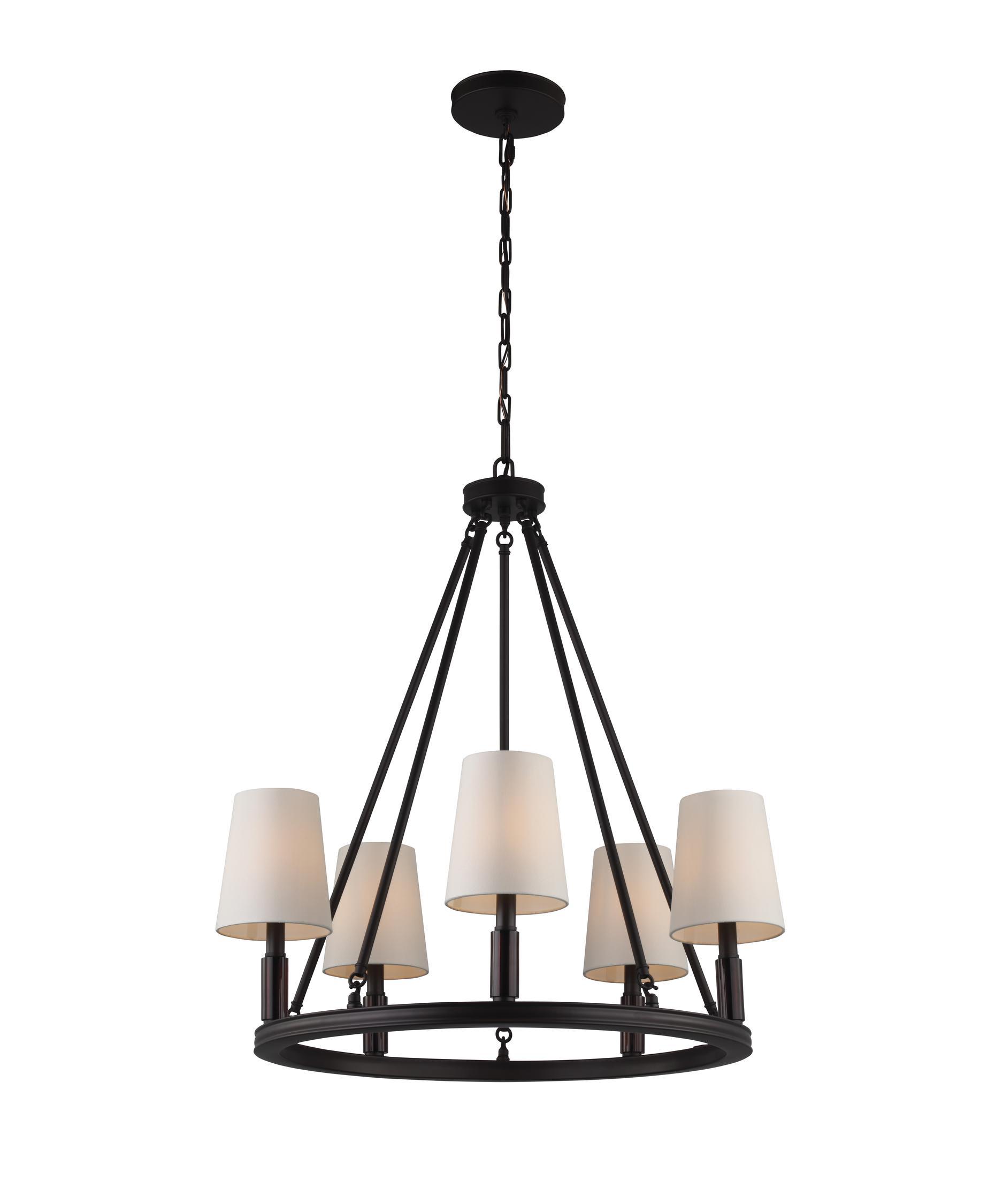 murray feiss f29225 lismore 28 inch wide 5 light chandelier capitol lighting - Feiss Lighting