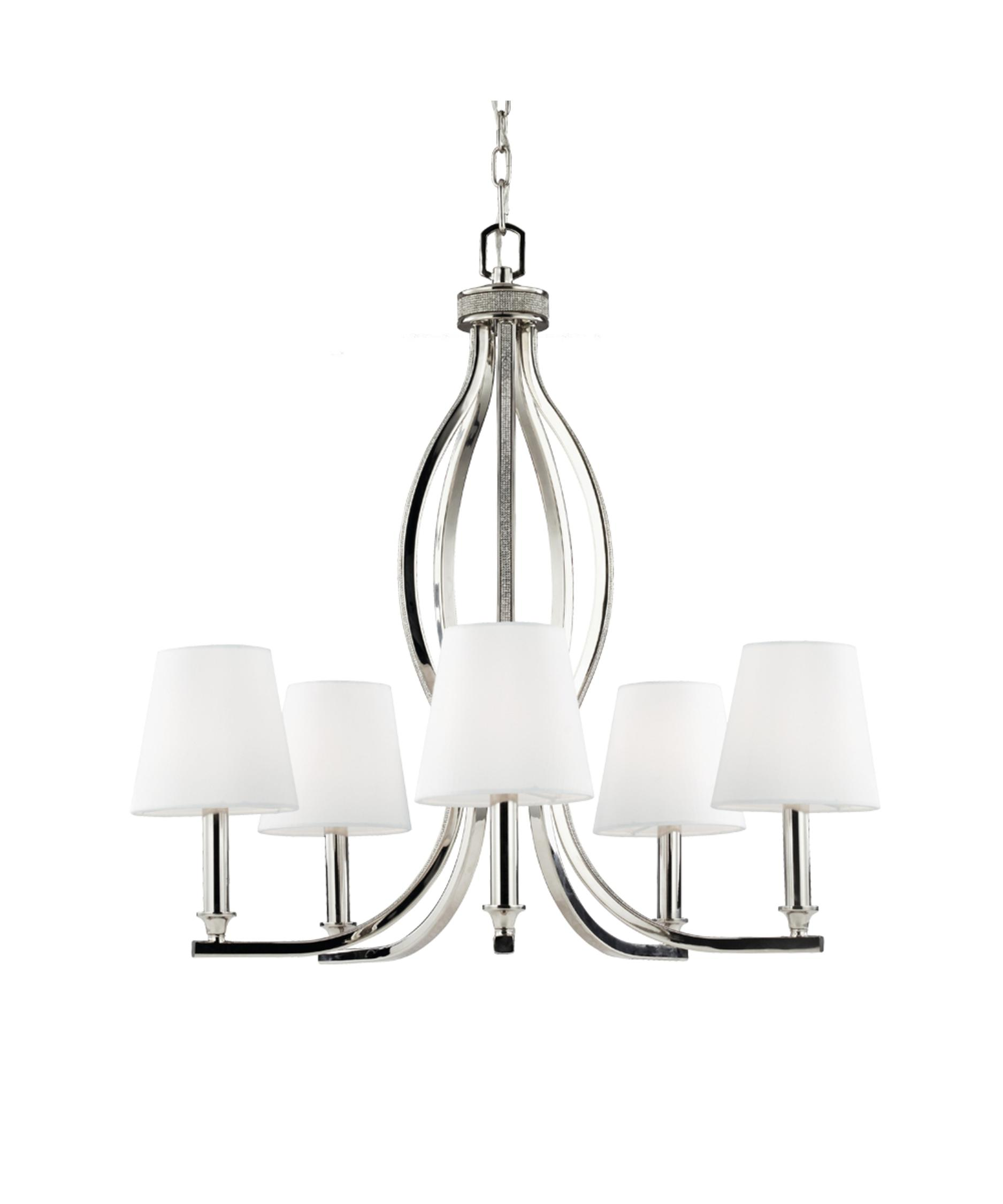 Murray Feiss Pave 25 Inch Wide 5 Light Chandelier – Murray Feiss Chandeliers