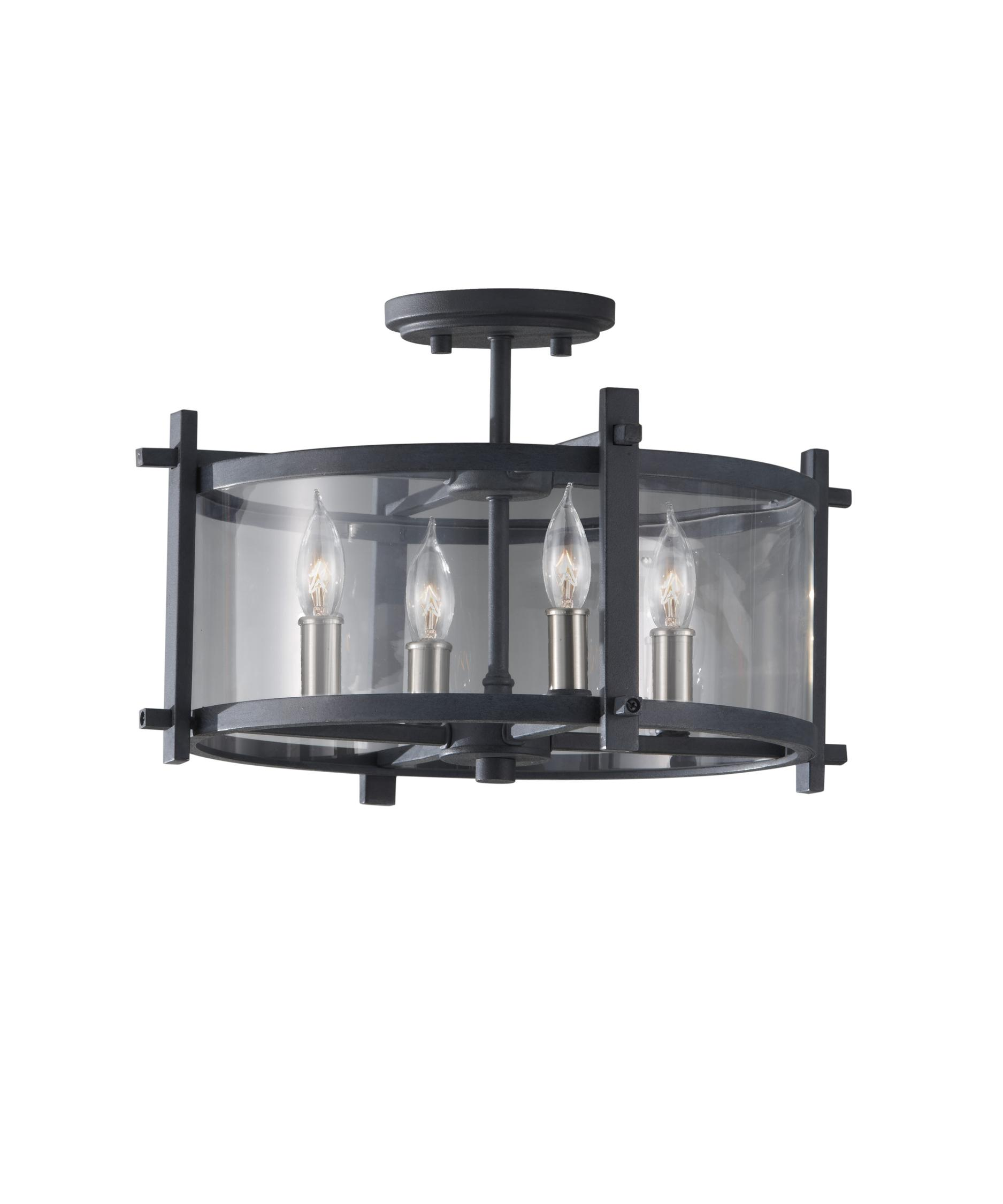 murray feiss sf292 ethan 16 inch wide semi flush mount | capitol