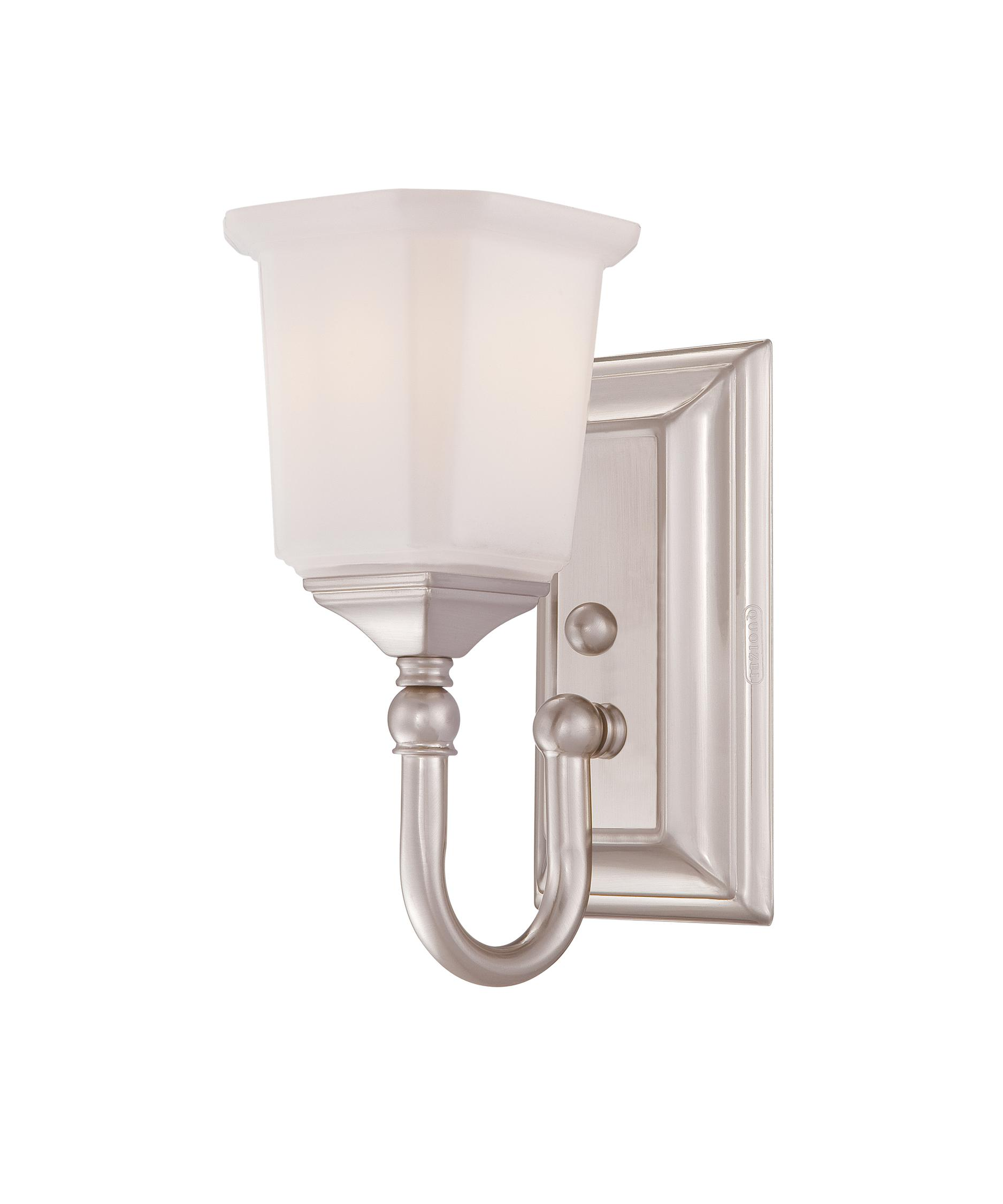 shown in brushed nickel finish and opal etched glass bathroom vanity lighting 1