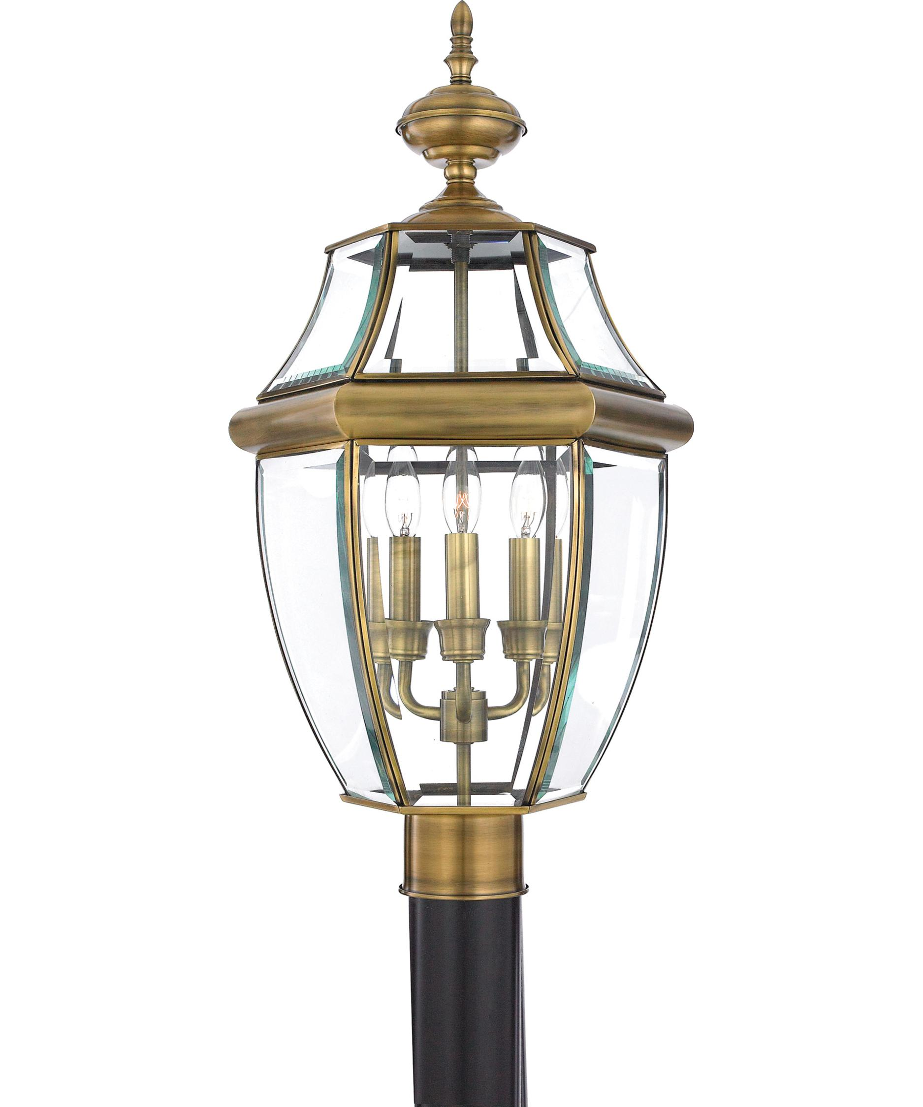 Modern Outdoor Lamp Post - Quoizel ny9043 newbury 12 inch wide 3 light outdoor post lamp capitol lighting 1 800lighting com