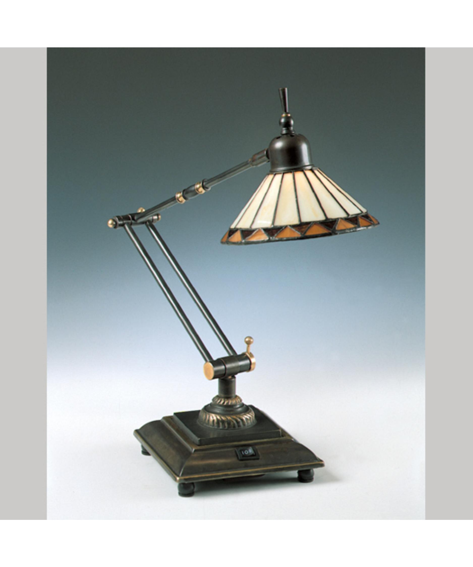 Shown In Medici Bronze Finish And Tiffany Glass