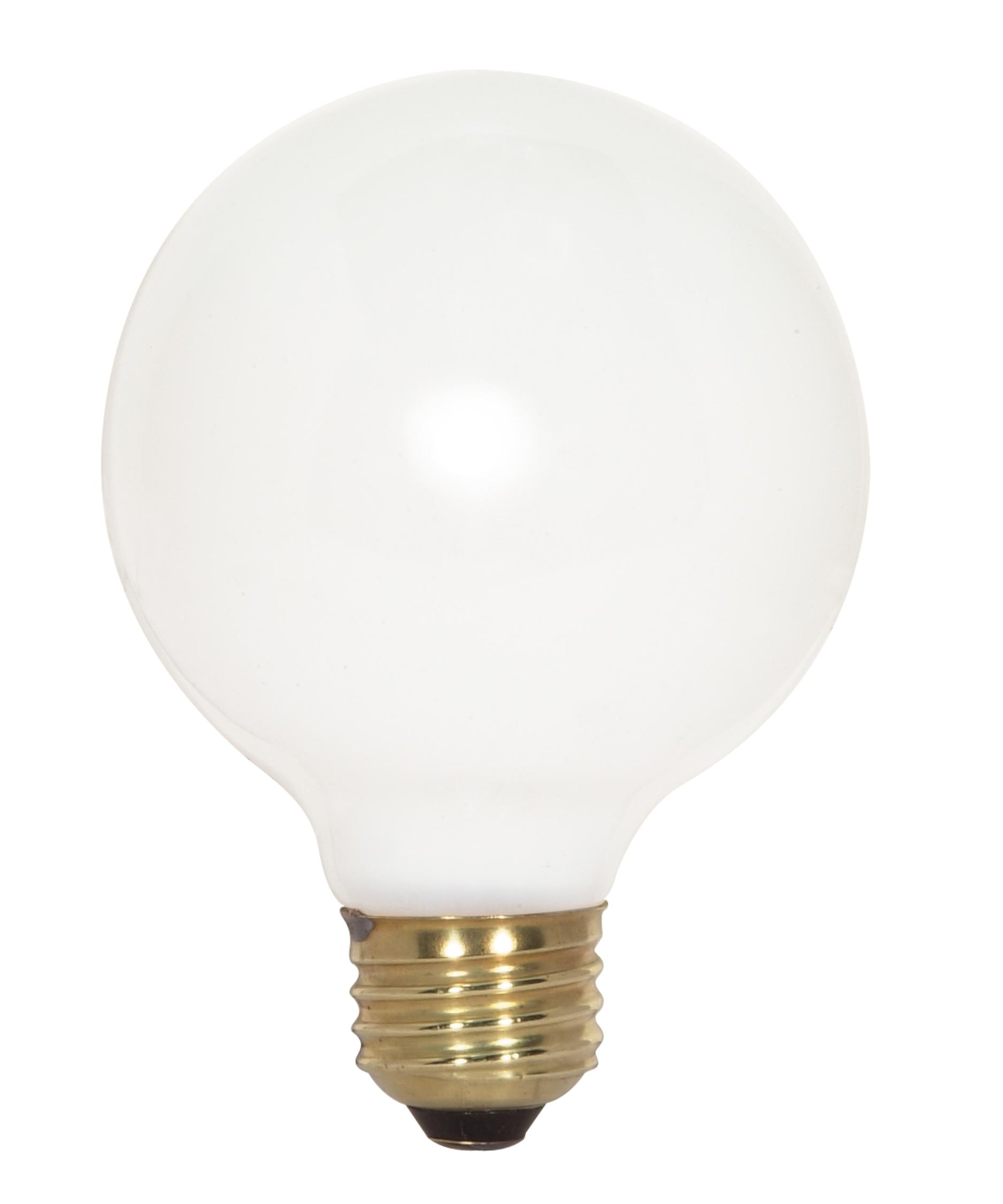Satco S3443 100 Watt 120 Volt Gloss White G25 Medium E26