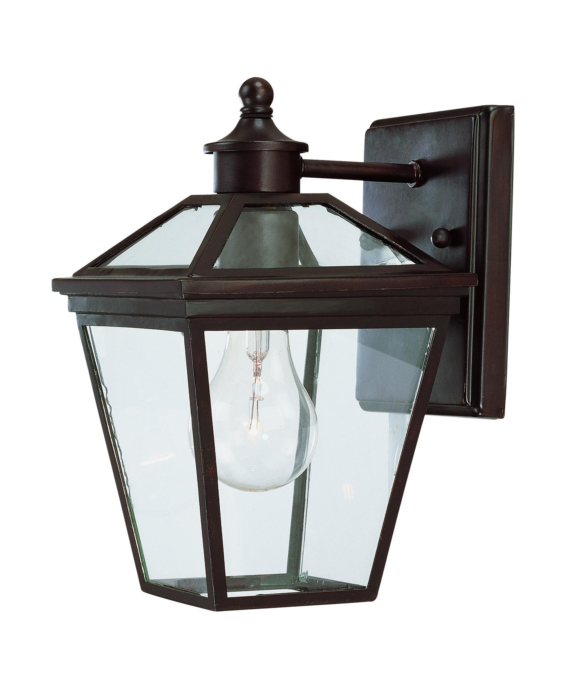 shown in english bronze finish and clear glass - Savoy Lighting