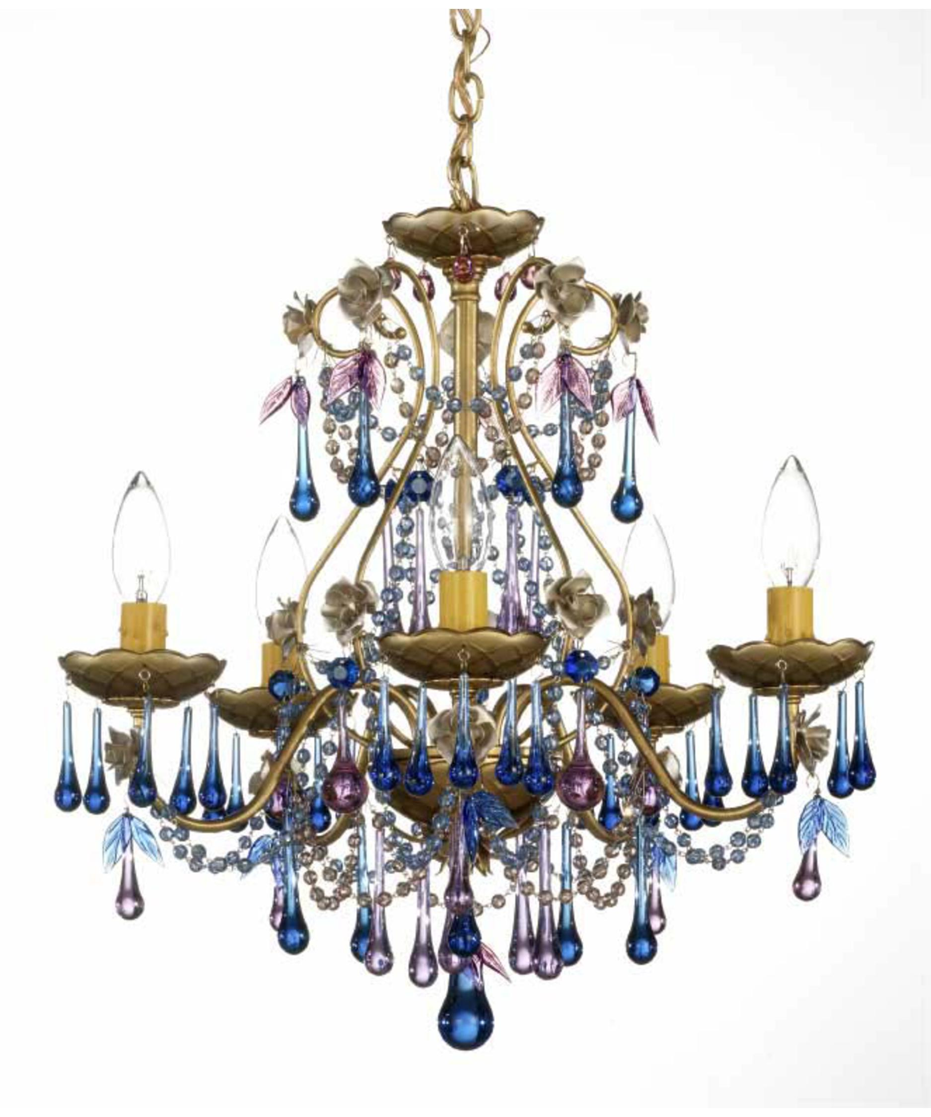 schonbek rose 17 inch wide 5 light mini chandelier capitol lighting - Schonbek Lighting