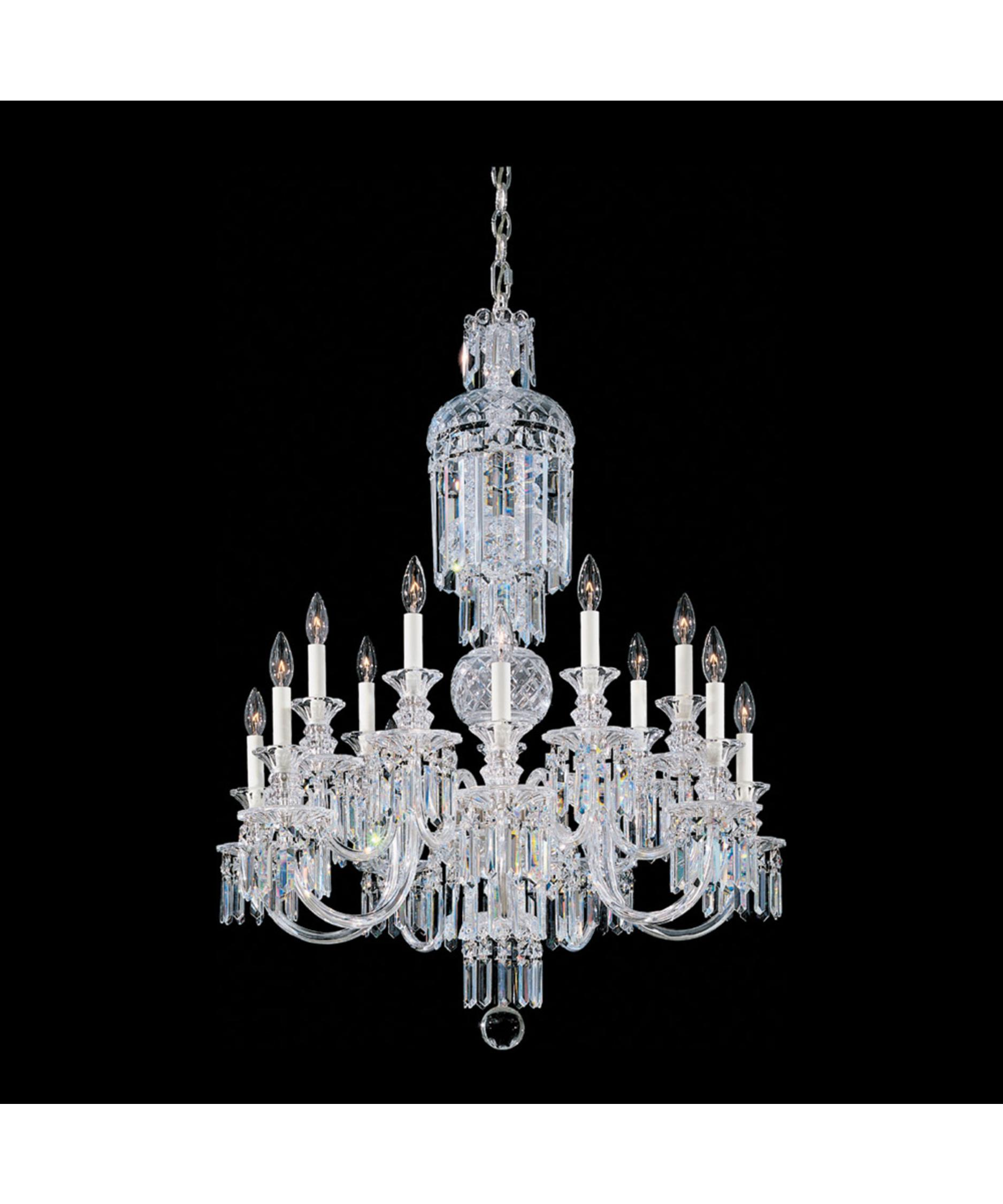 shown in silver finish and clear heritage handcut crystal - Schonbek