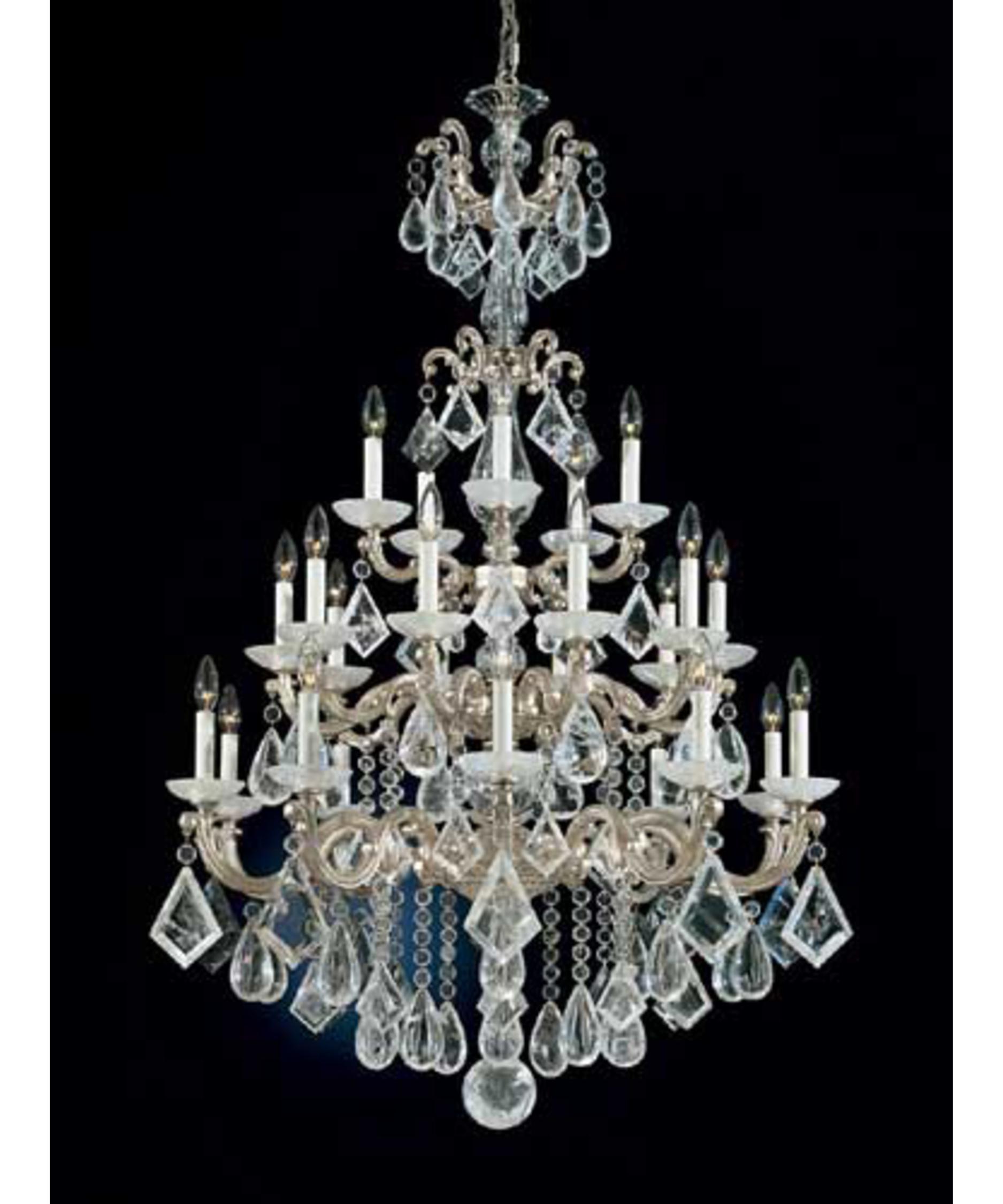 Schonbek La Scala Rock Crystal 35 Inch Wide 25 Light Chandelier – Rock Crystal Chandelier