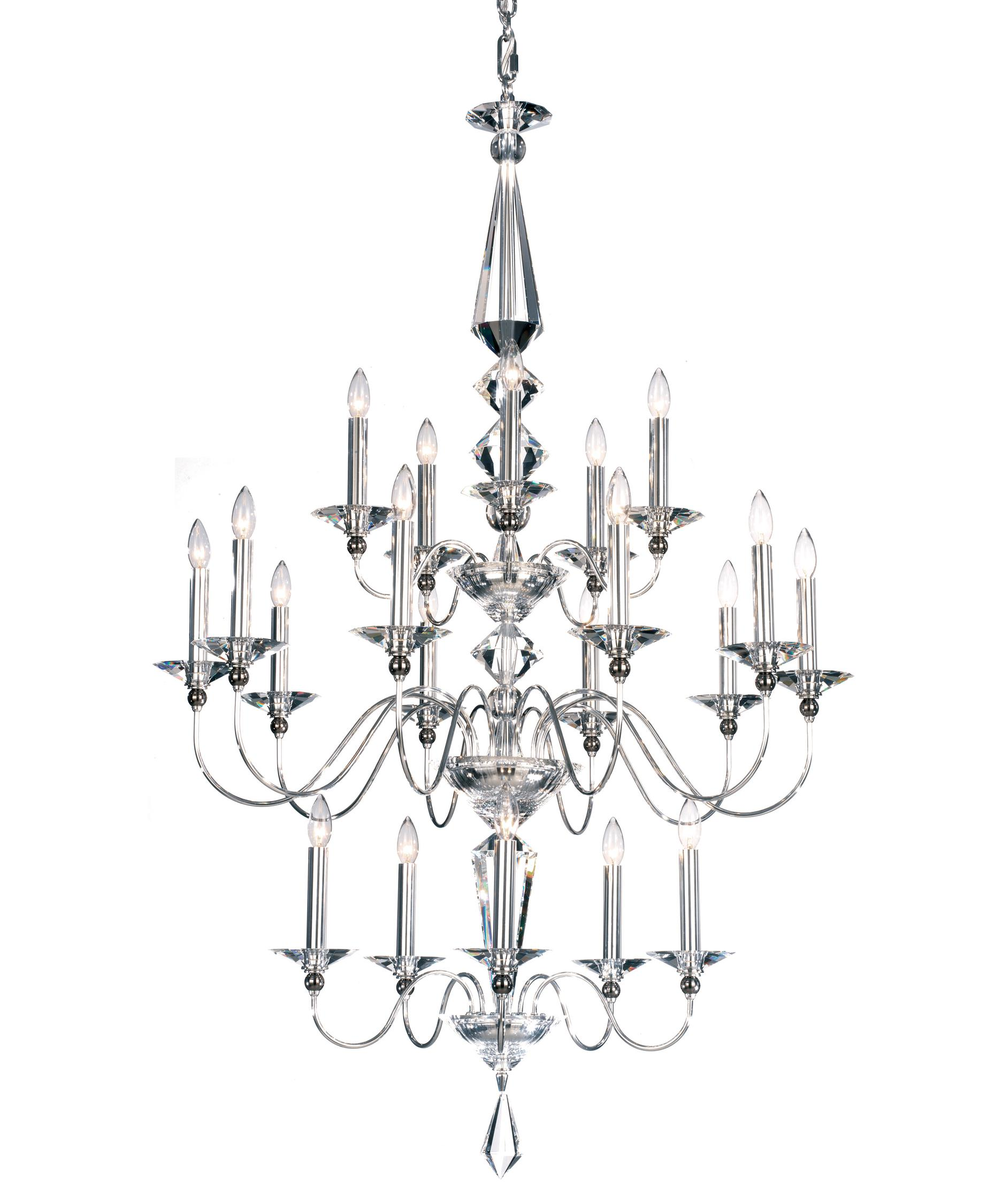 shown in silver finish and clear crystal - Schonbek