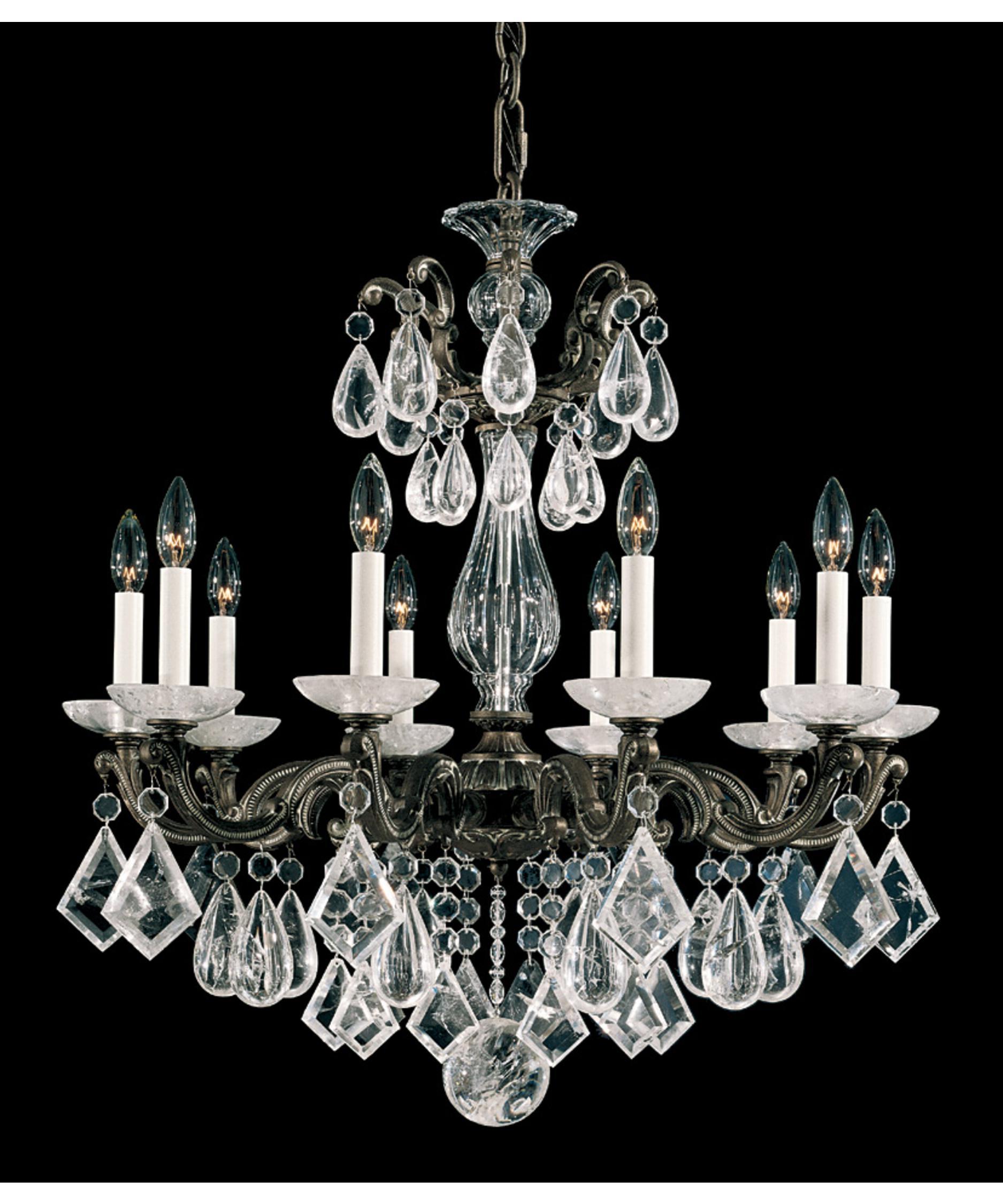 Schonbek La Scala Rock Crystal 28 Inch Wide 10 Light Chandelier – La Scala Chandelier