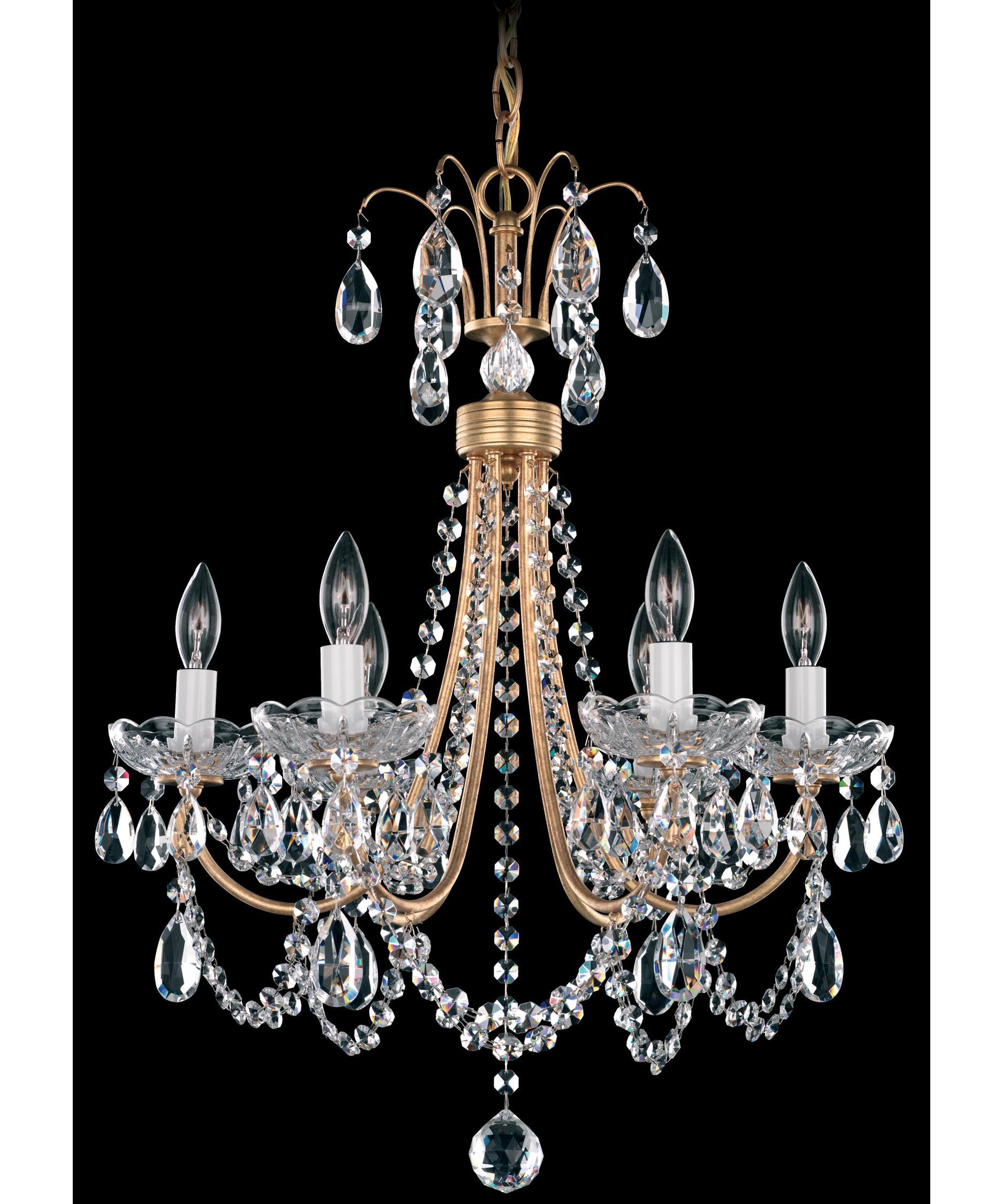 schonbek lu0001 lucia 18 inch wide 6 light mini chandelier capitol lighting - Schonbek Chandelier