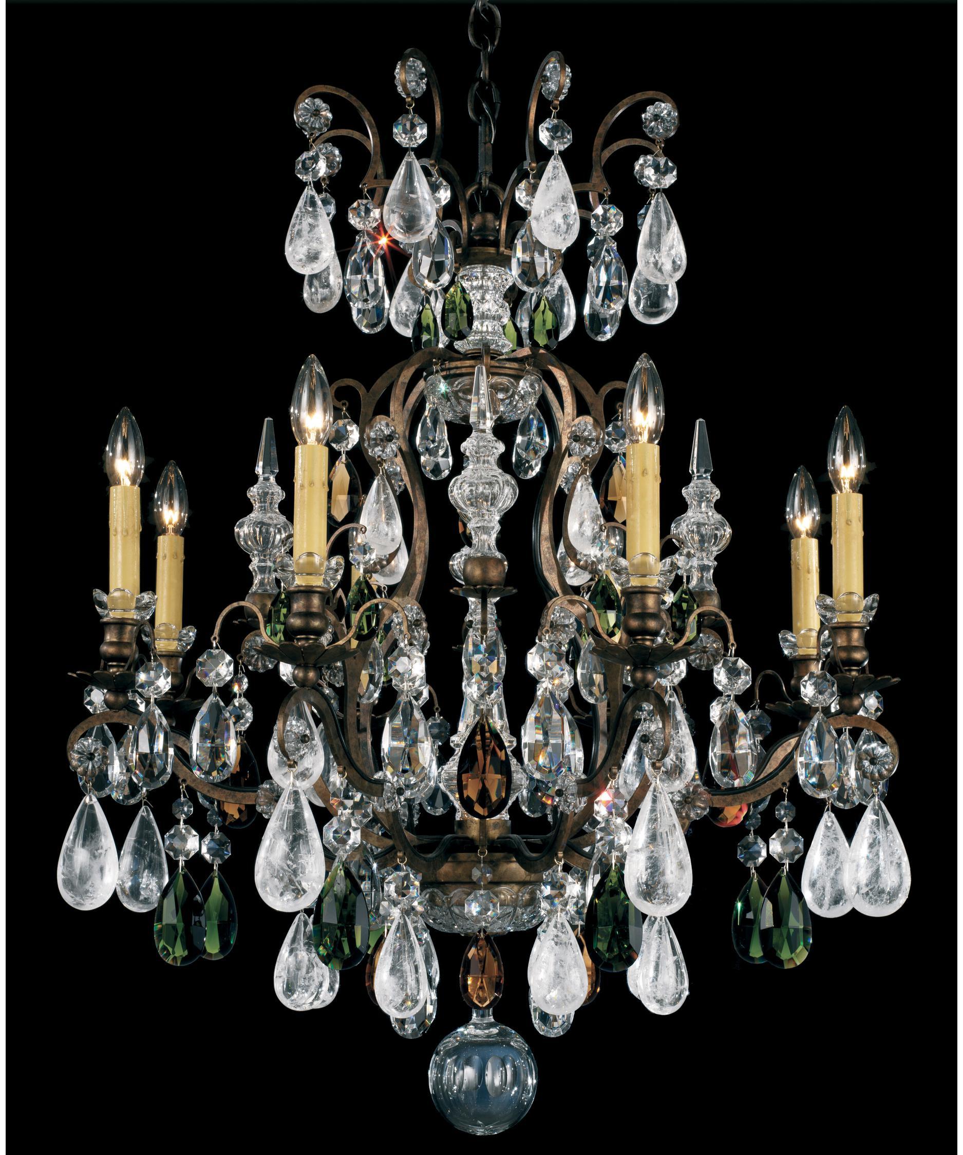 Schonbek Renaissance Rock Crystal 27 Inch Wide 8 Light Chandelier – Rock Crystal Chandelier