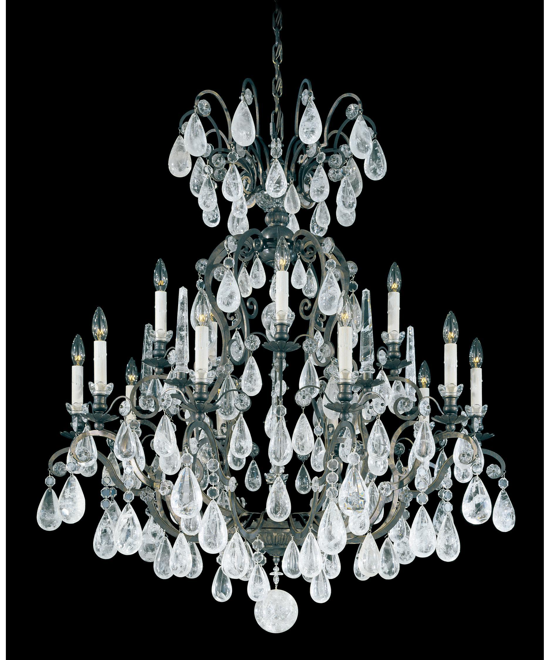 Schonbek Versailles Rock Crystal 39 Inch Wide 16 Light Chandelier – Rock Crystal Chandelier