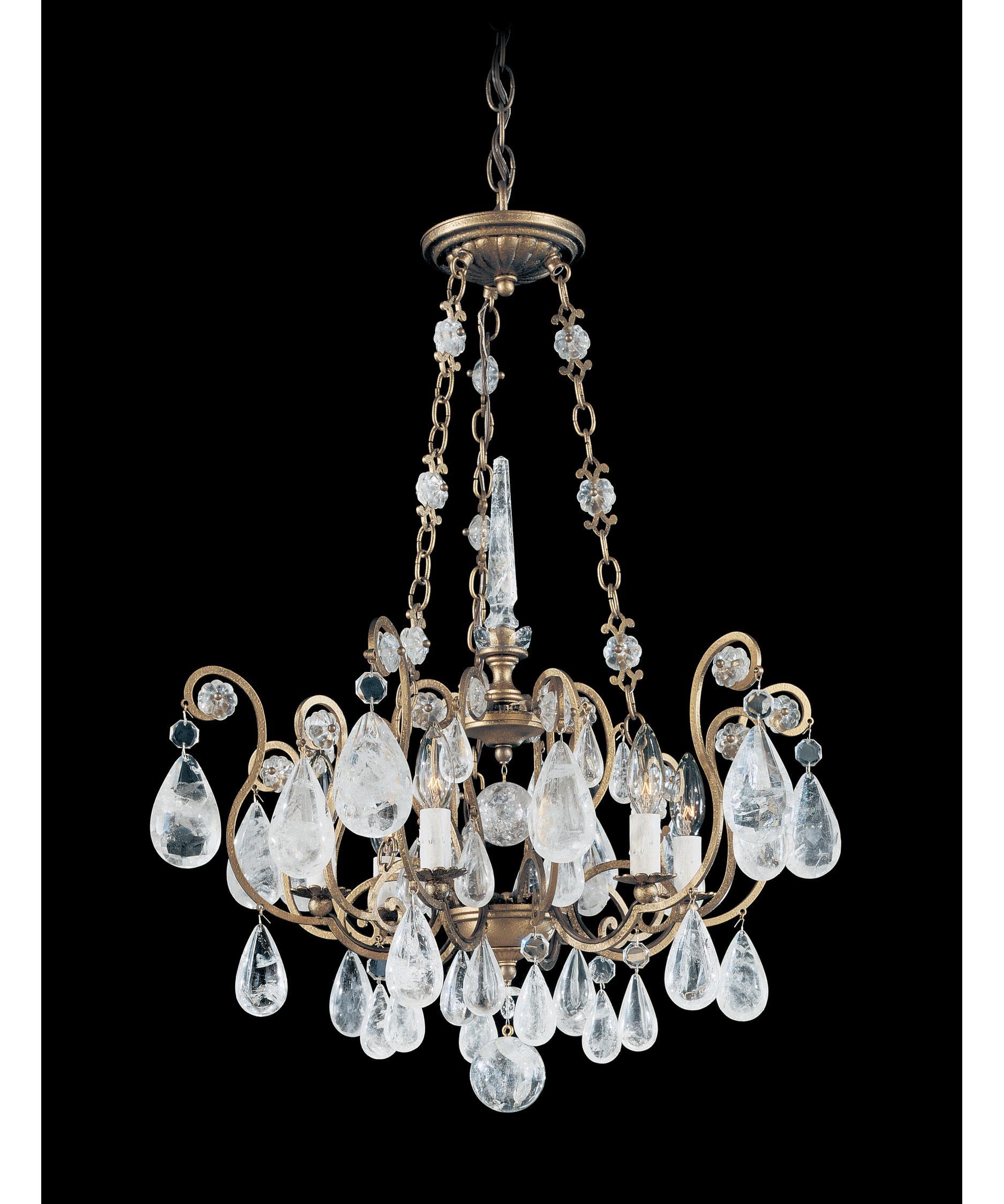 schonbek versailles rock crystal 22 inch wide 6 light chandelier capitol lighting - Schonbek Chandelier