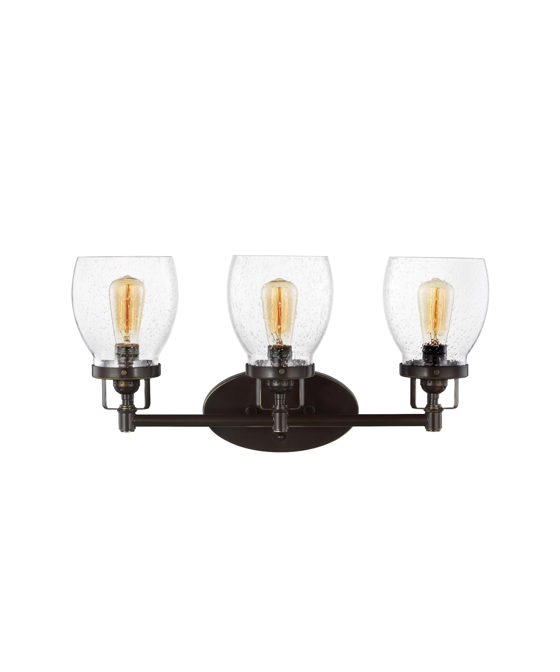 Bathroom Vanity Lights In Bronze sea gull lighting 4414503 belton 21 inch wide bath vanity light
