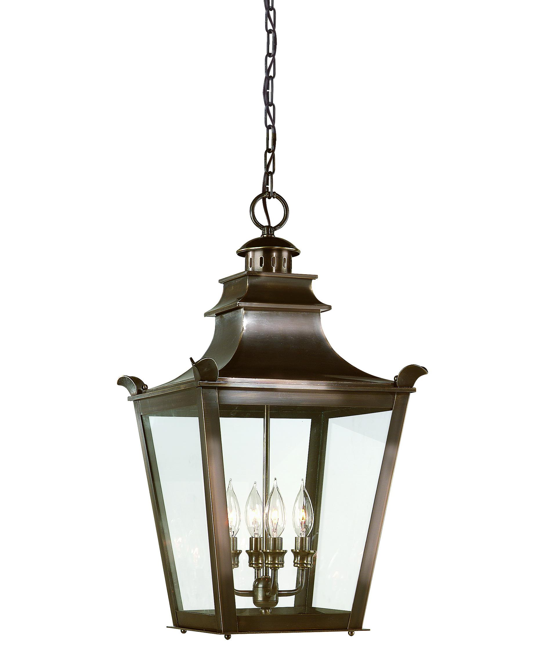 Outdoor hanging lamp - Shown In English Bronze Finish And Clear Glass