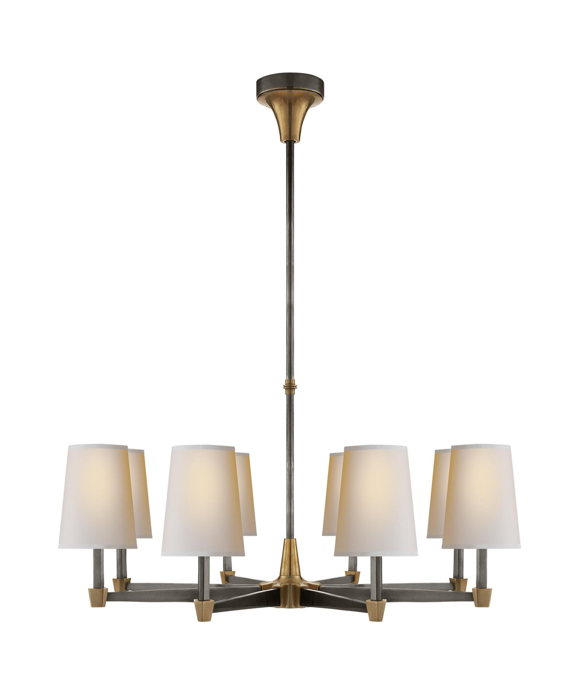 visual comfort tob5046 thomas ou0027brien caron 30 inch wide 8 light chandelier capitol lighting