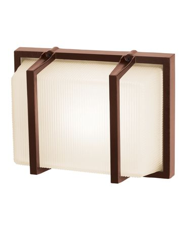 Shown in Bronze finish and Ribbed Frosted glass