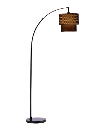 Shown in Black finish and Fabric shade