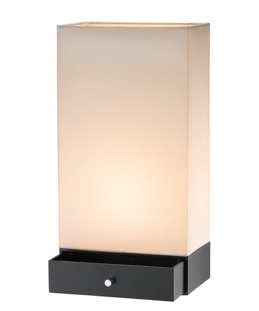 Shown in Black finish and Off-White shade