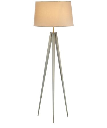 Shown in Satin Steel finish and Off-White shade